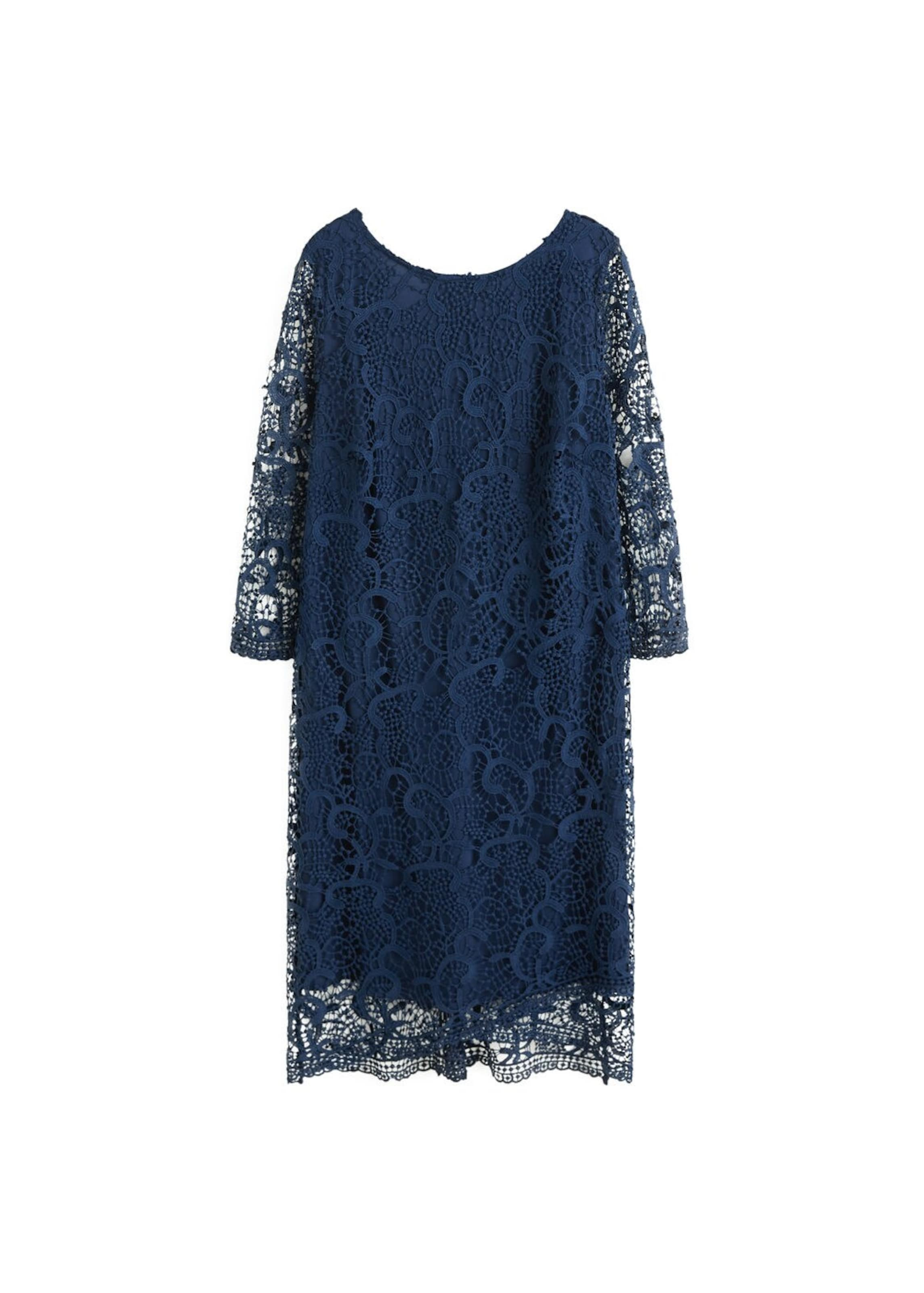 Mango Violeta By 'gandhi i' Kleid In Dunkelblau H9IDWEe2Yb