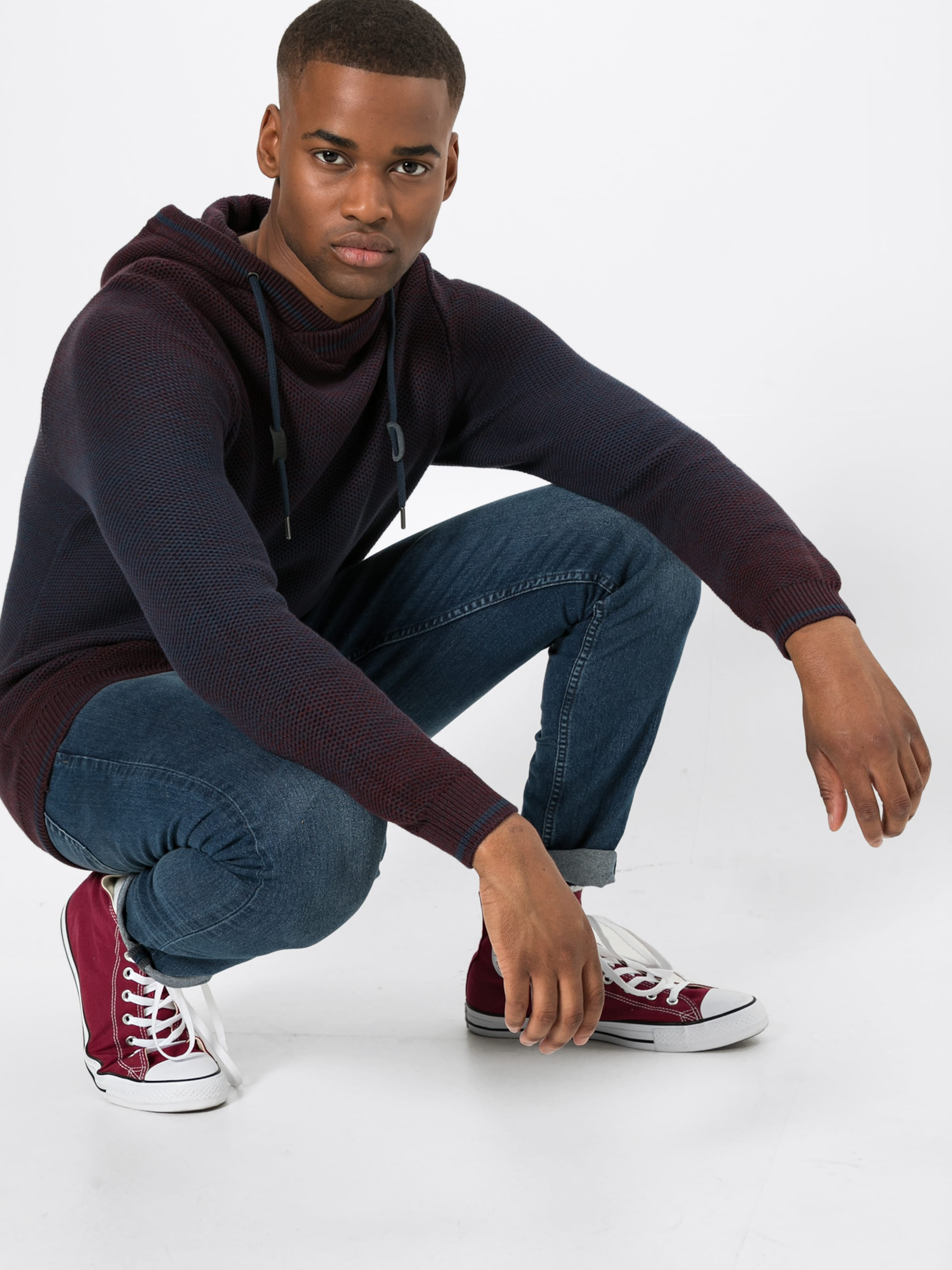 Funn over Esprit By 'dégradé Pull Edc Bordeaux En ' 5A43LjR