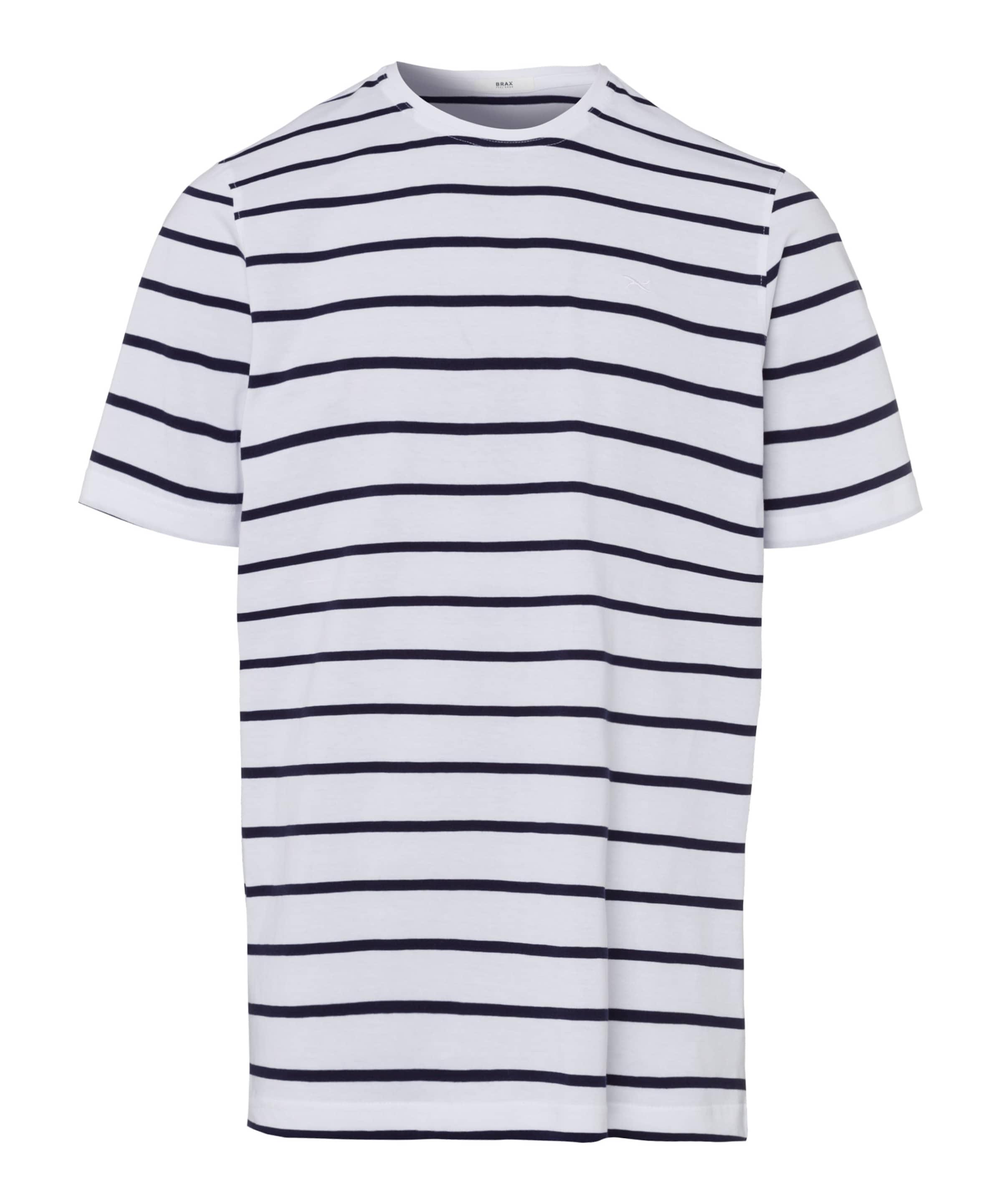 T shirt NachtblauWeiß Brax 'troy' In iukXOTZP
