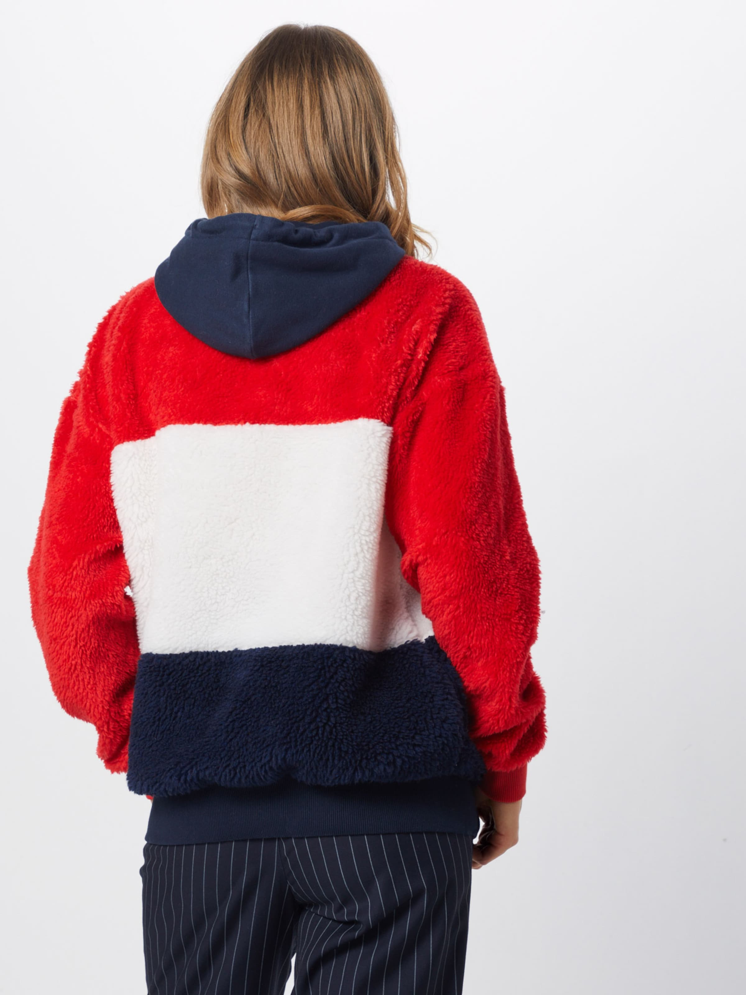 Superdry 'borg En CrèmeBleu Hood' Marine Sweat shirt Rouge N80wyvmnO