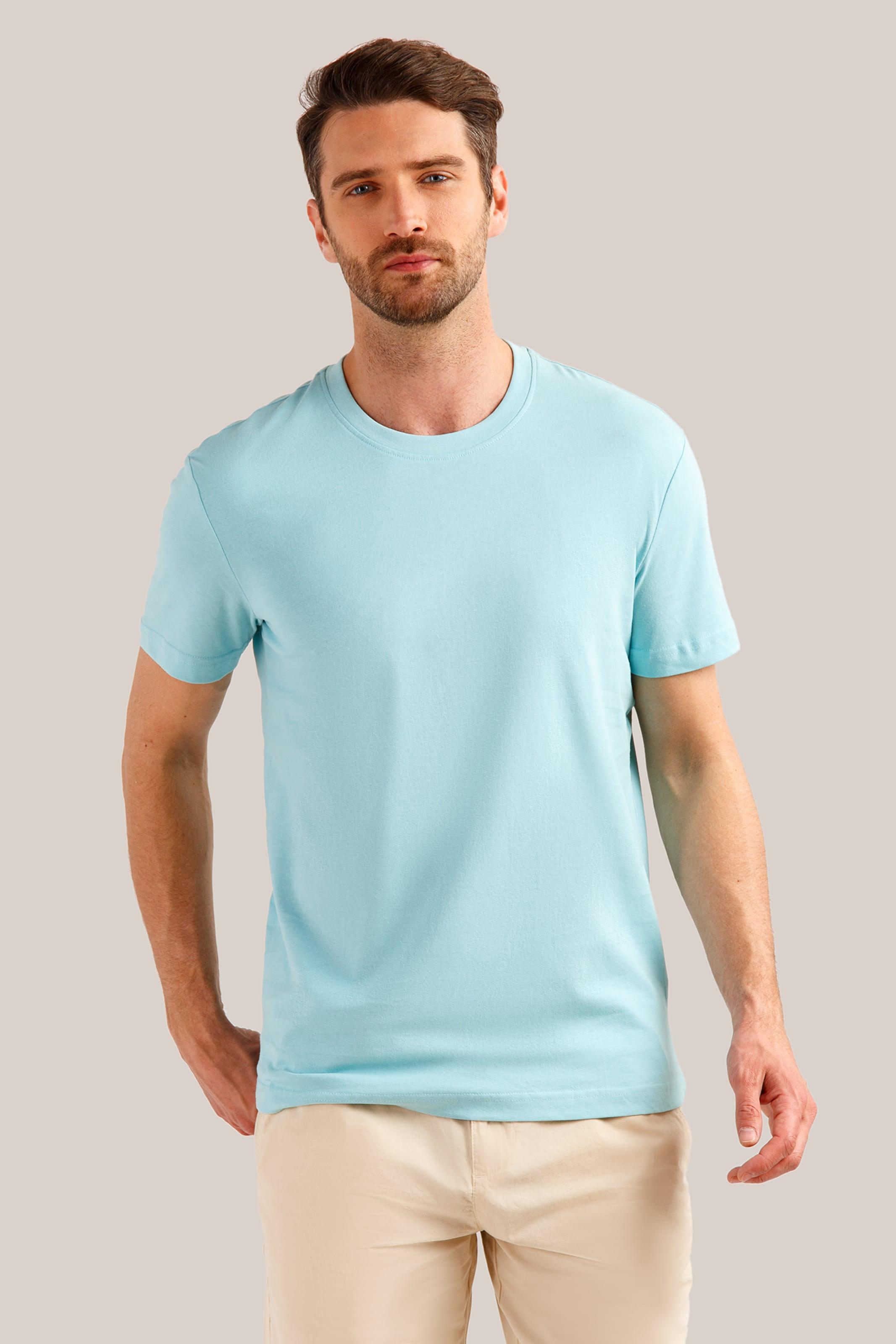 Flare Basic Hellblau shirt Klassischem Design In Finn 5Lq4A3Rj