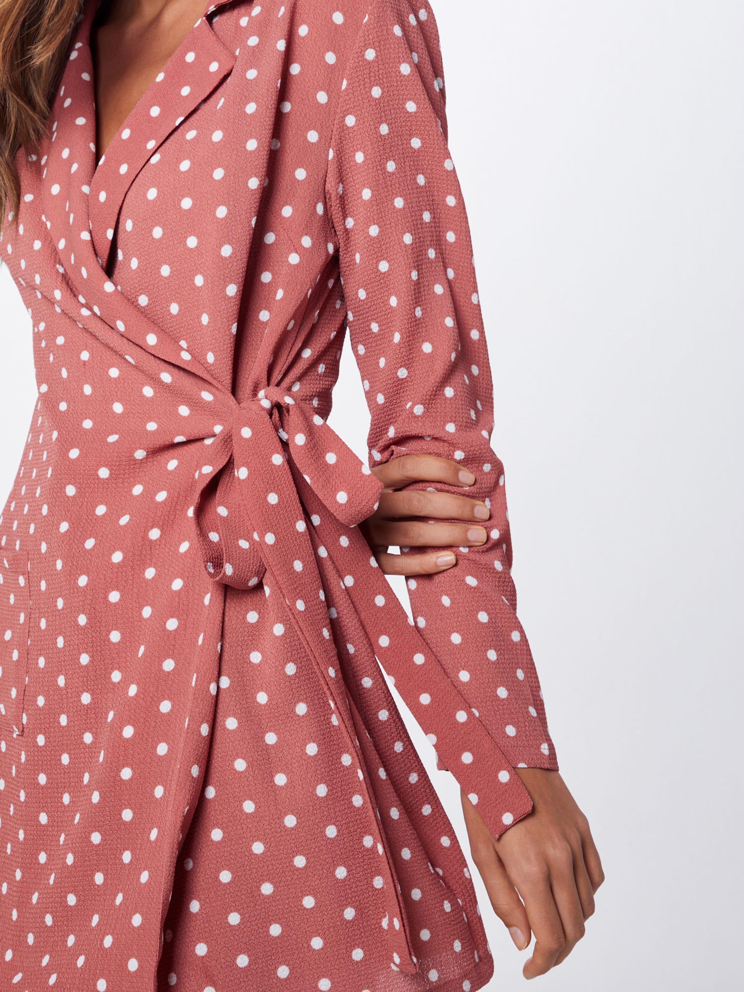 Rose En Belted' Robe 'pink Polkadot Missguided Jc1FKTl