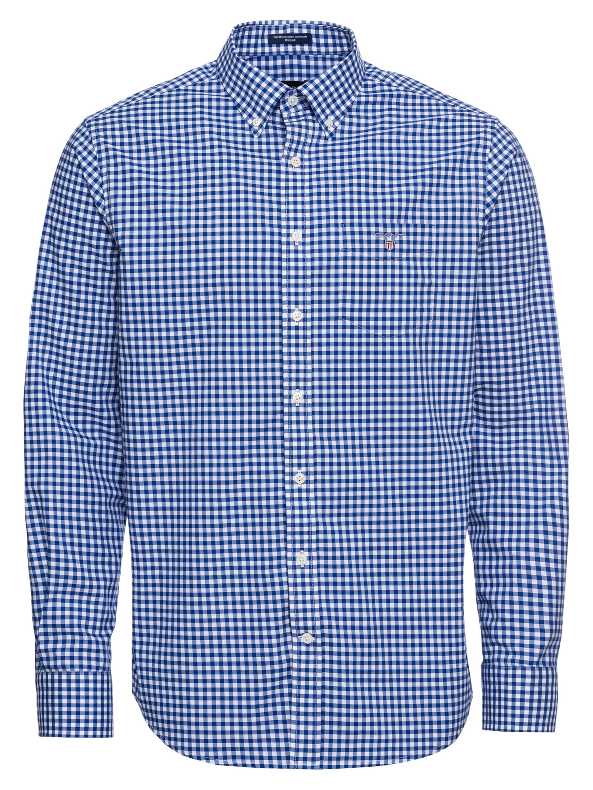 Broadcloth' Gant In BlauWeiß Hemd 'the TJ3lF1cK