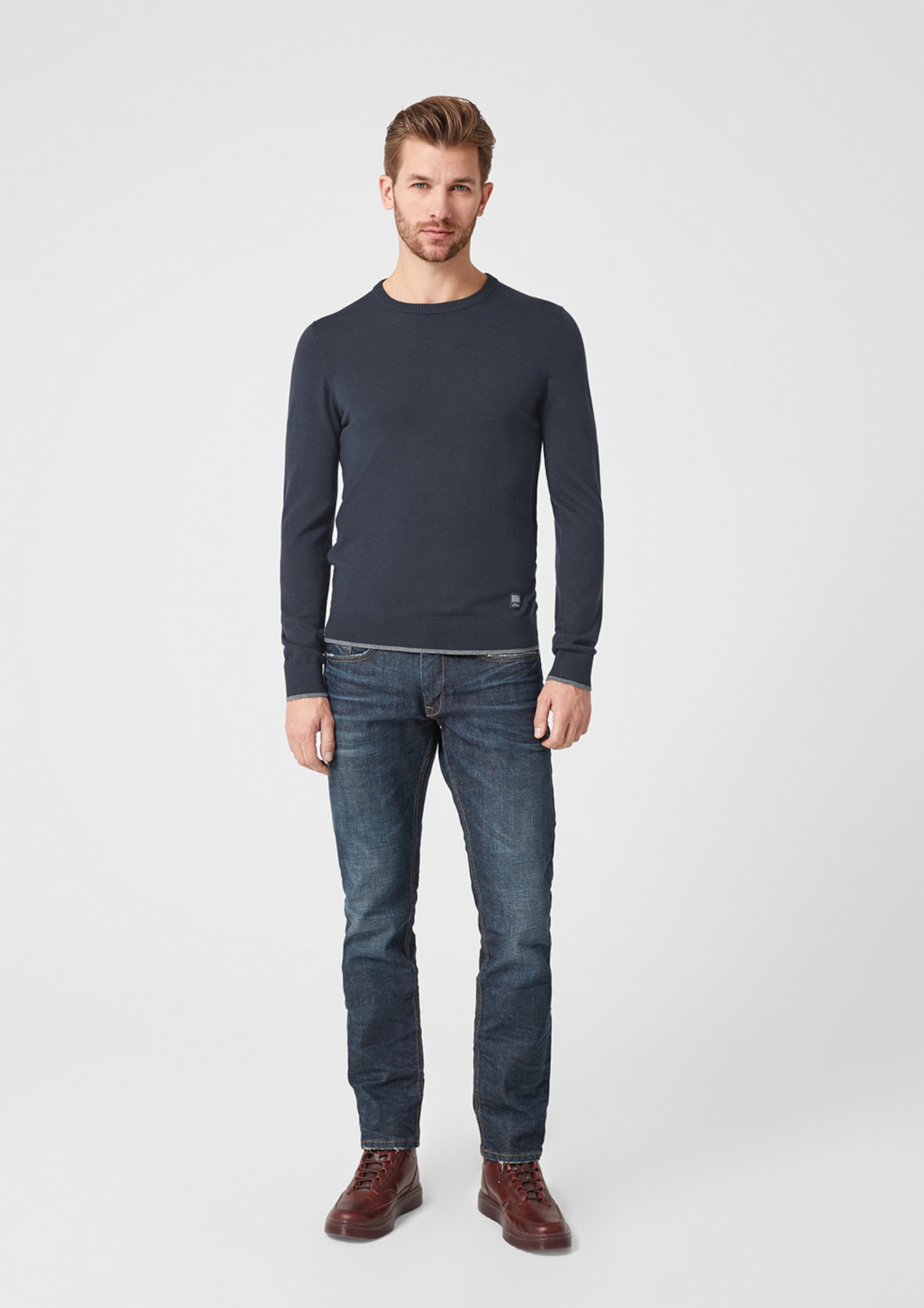 oliver Pullover S In GrauViolettblau Red Label mO0wyNnv8