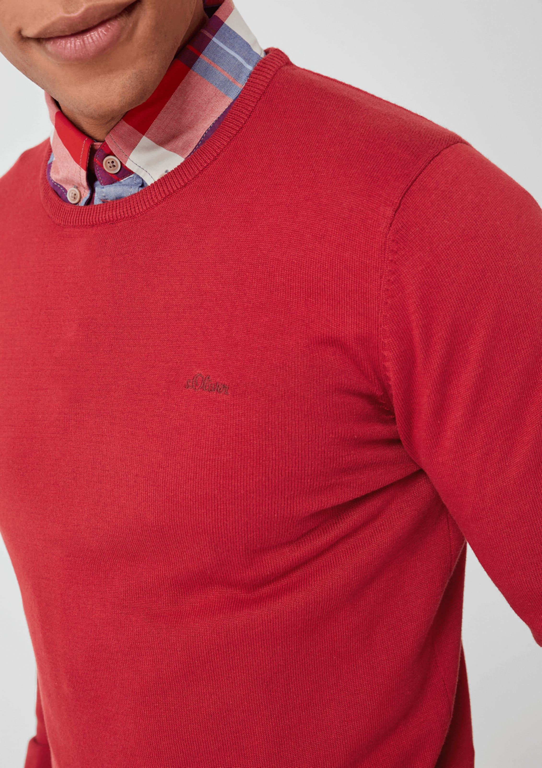S Rot oliver Pullover Mit Crew Neck Red In Label Y7ybf6vg