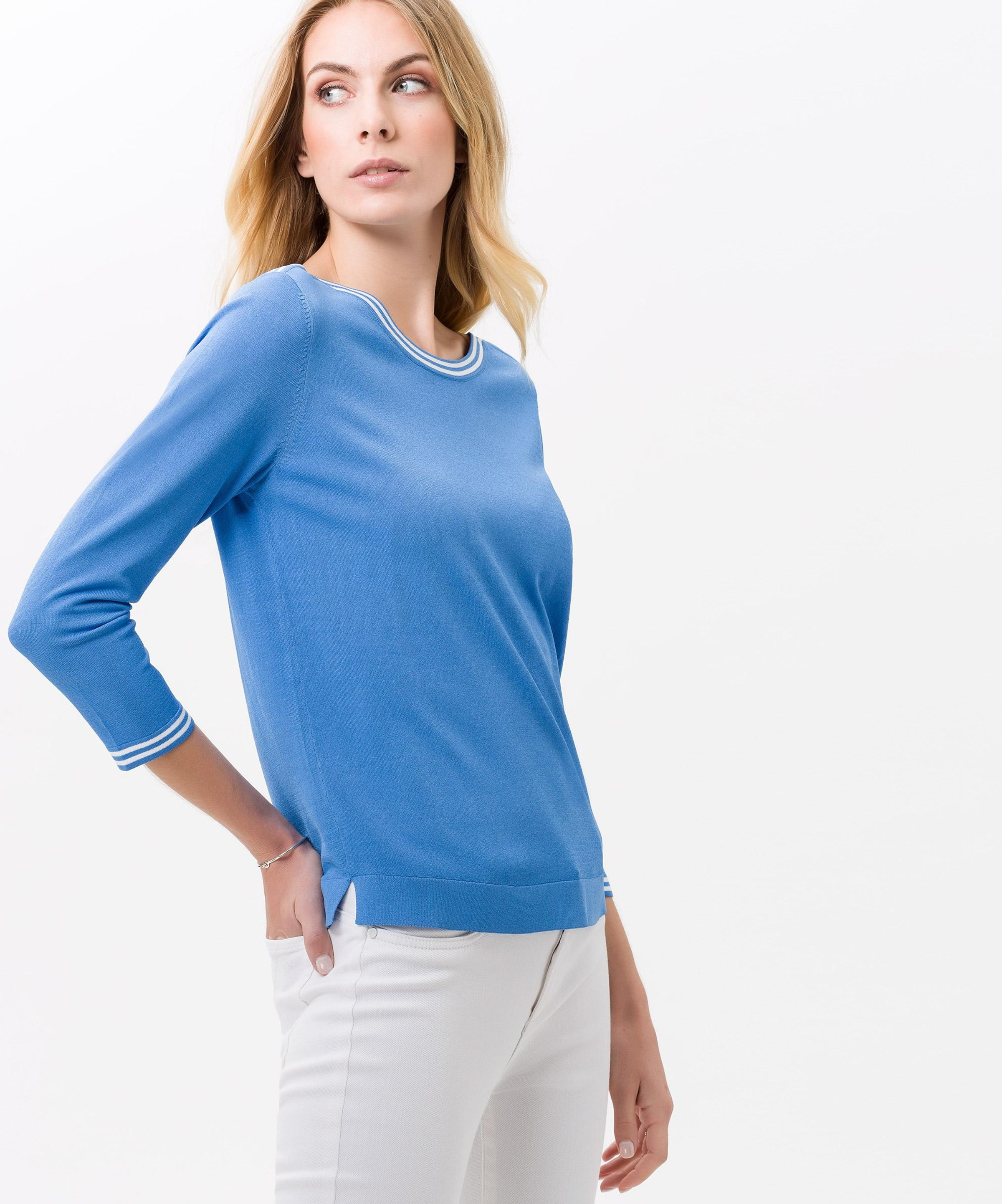 'lisa' In Pullover Brax Brax Pullover HimmelblauWei v8nNOym0w
