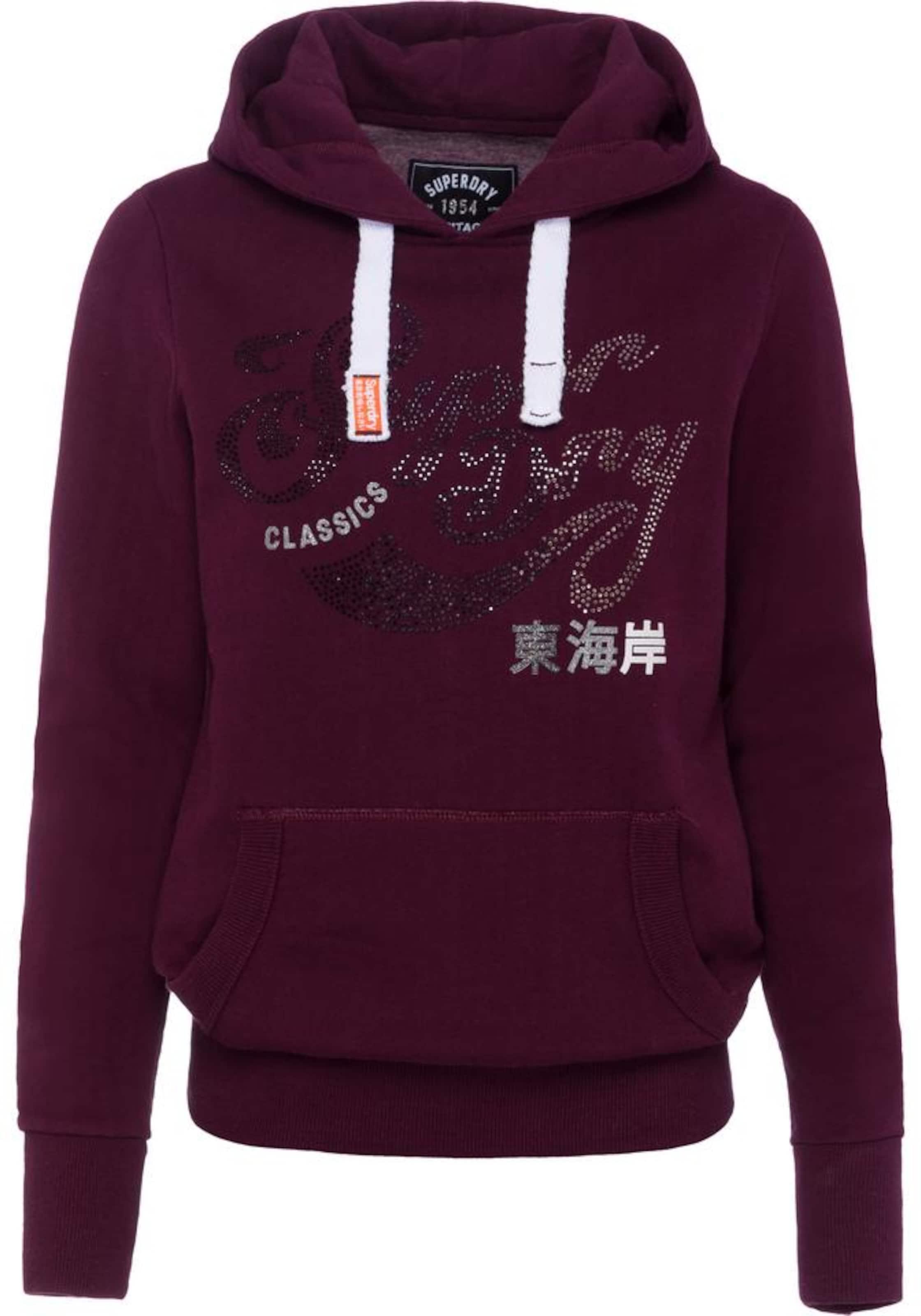 In In Superdry BeereWeiß Superdry Sweatshirt Sweatshirt rxBshoQdtC