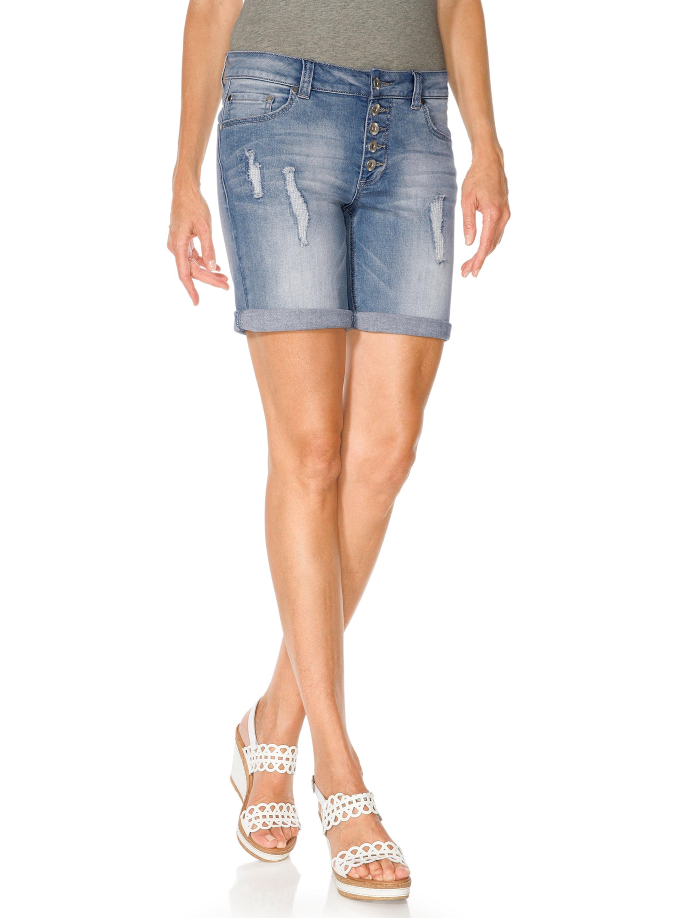 Heine shorts' In 'boyfriend Blue DamenJeans Denim QstdChrx