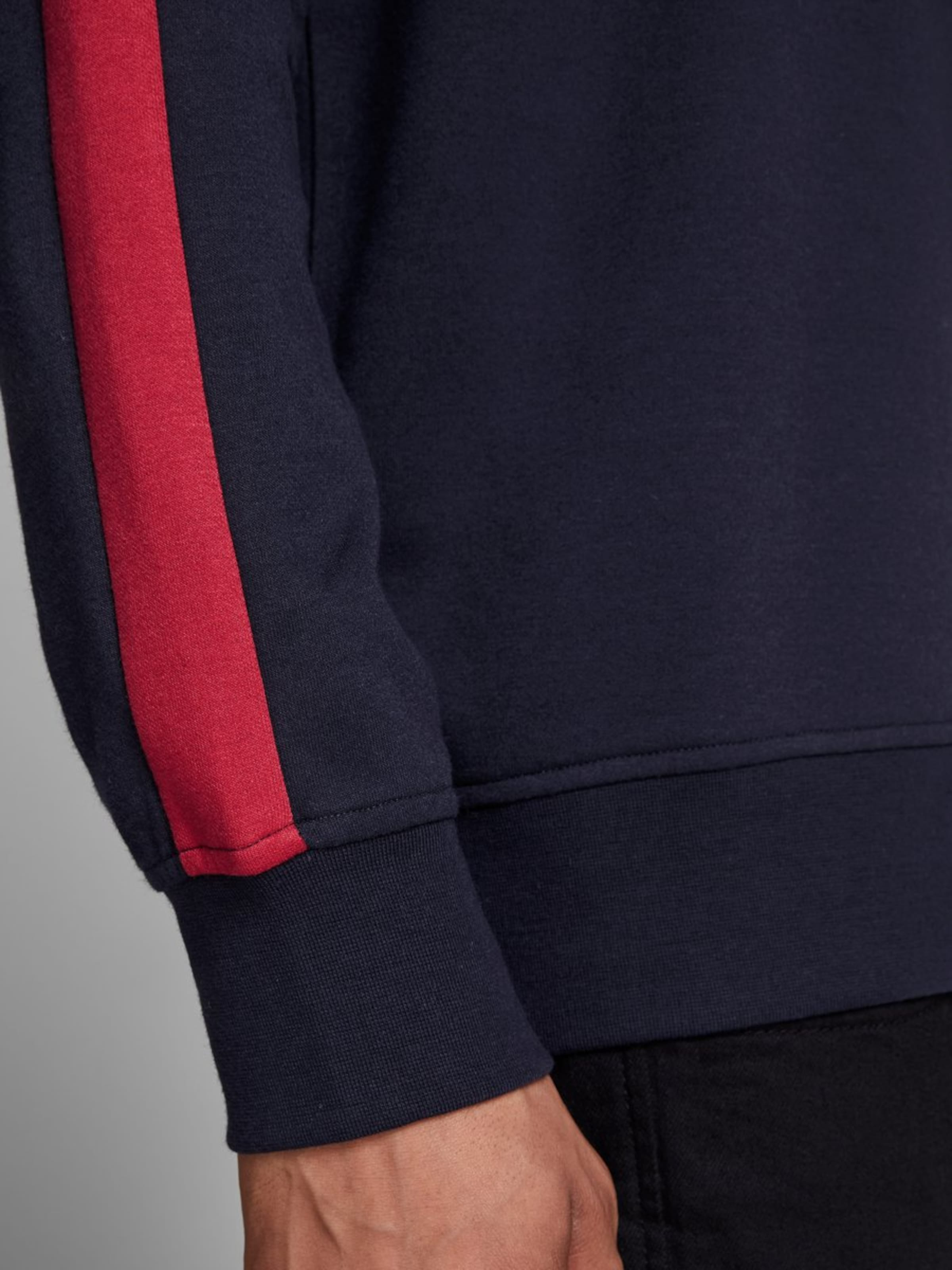 Jones Jackamp; shirt Bleu 'stempel' En Sweat MarineRouge Blanc 5AR34jL