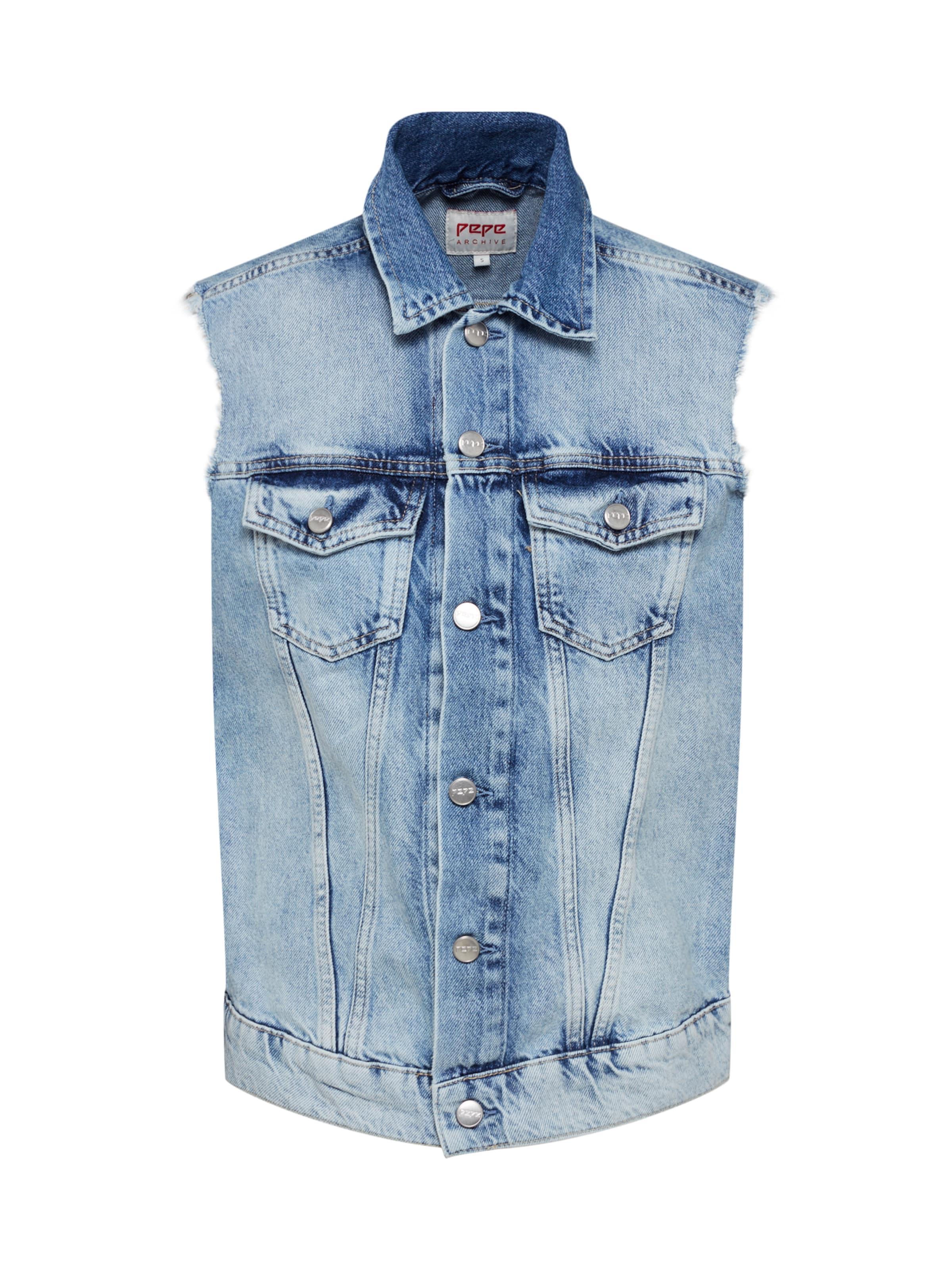Gilet Pepe Jeans En Denim 'maria' Bleu cj3L5q4AR
