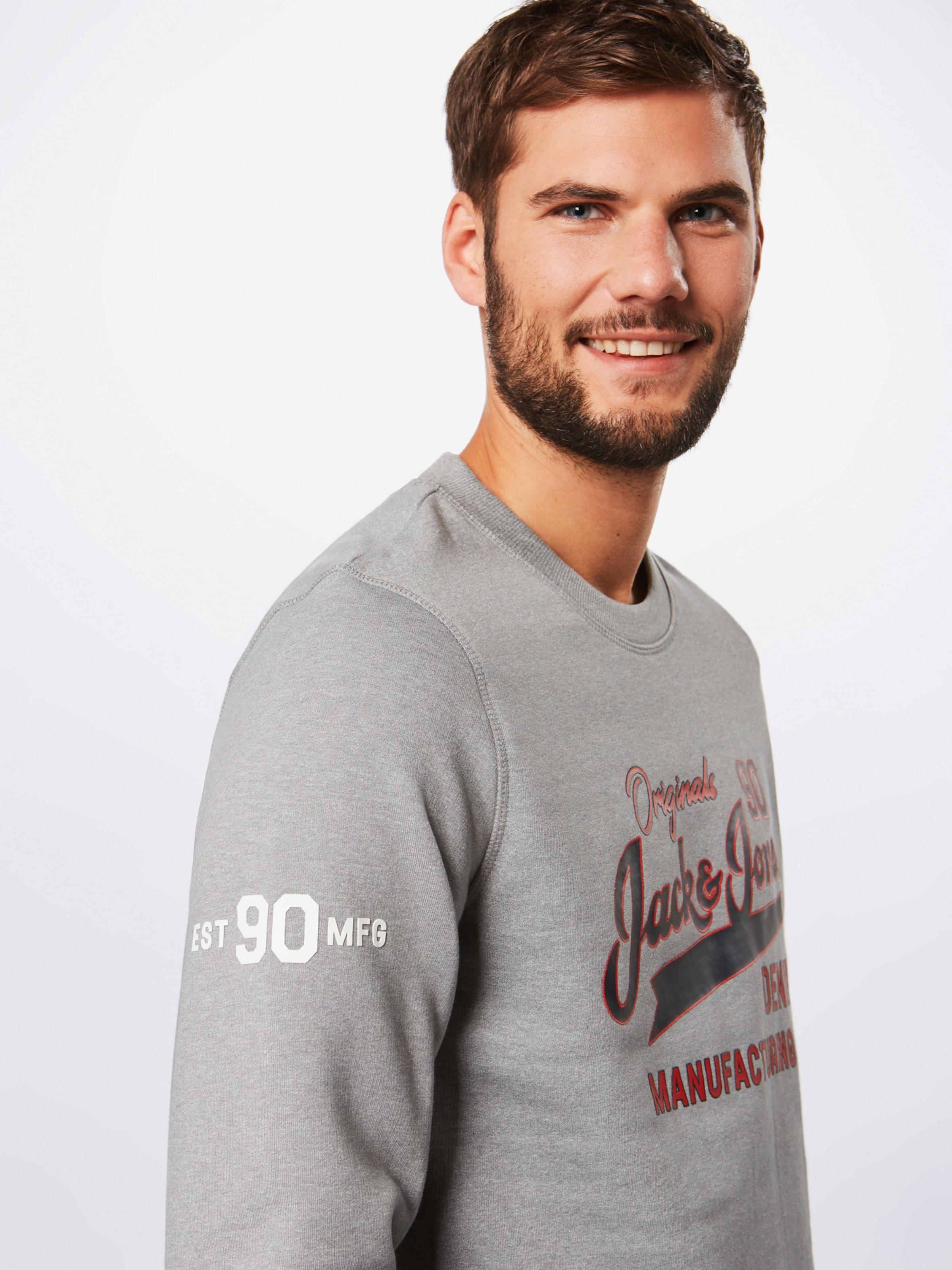 FoncéGris shirt Sweat 'logan' Rouge Jackamp; En Jones Bleu qzMpVSGU