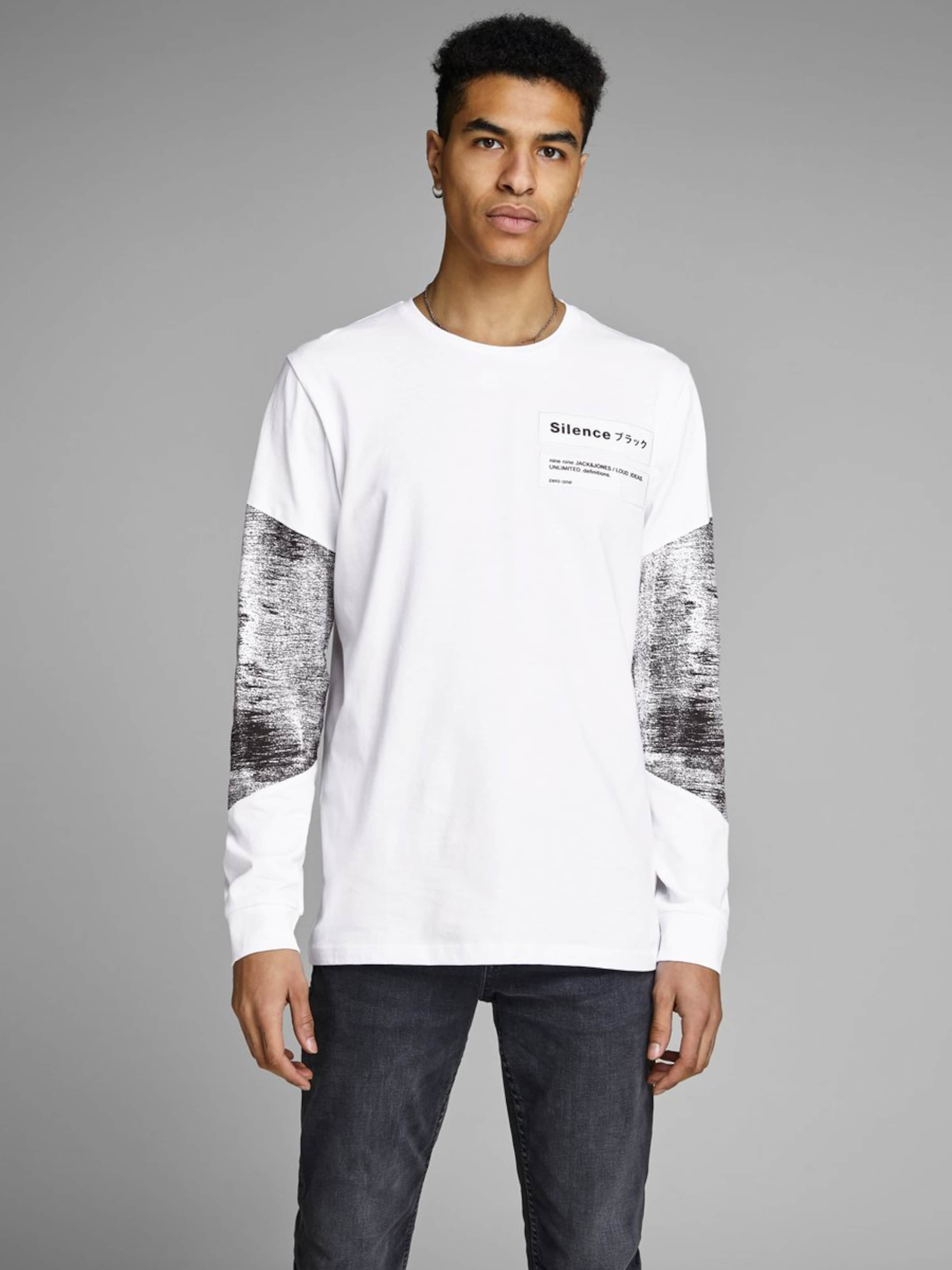 En BasalteBlanc Jackamp; Jones Gris shirt T jqA5R34L