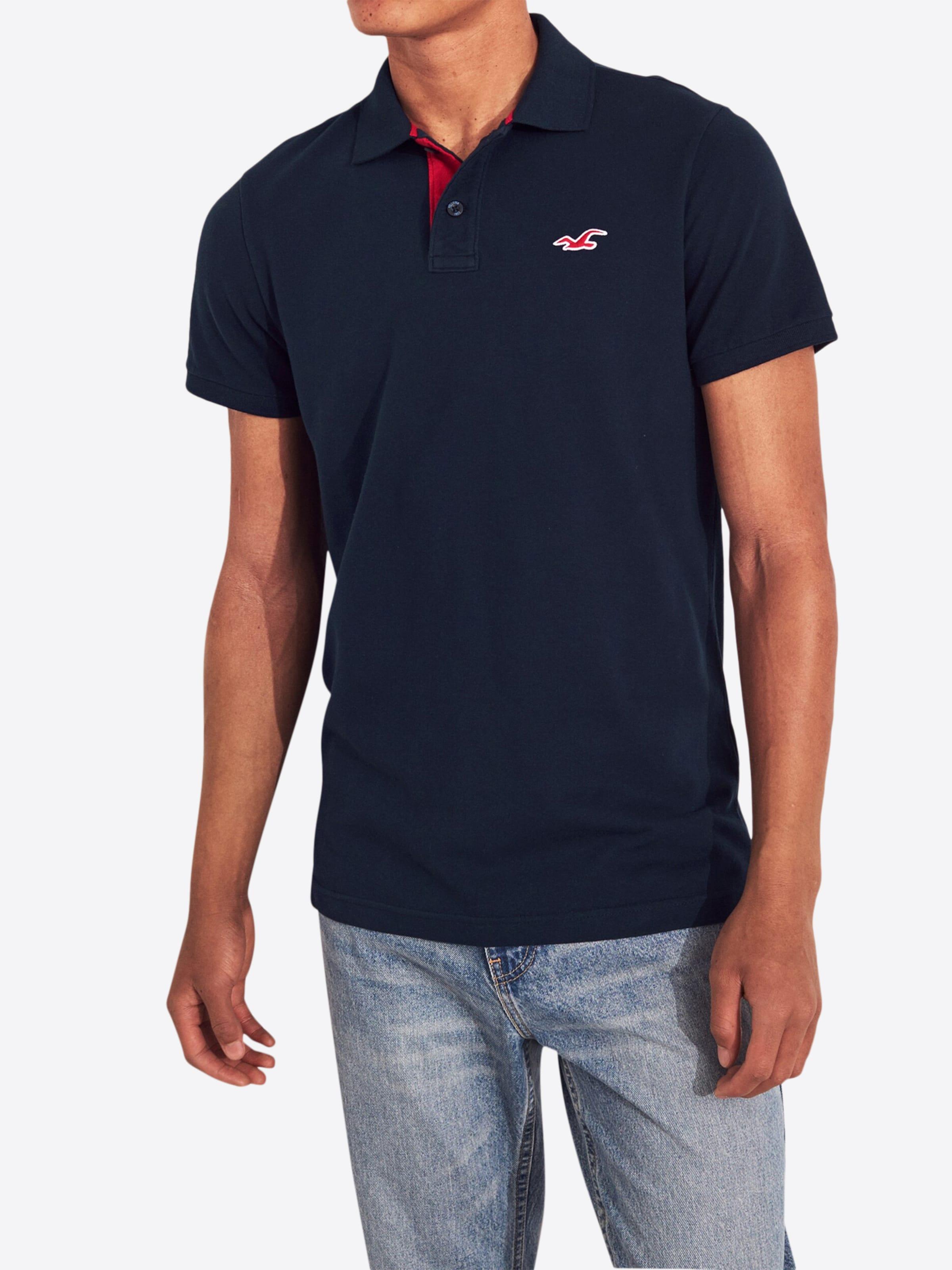 Hollister shirt 6cc' T Slim Noir En heritage 'bts19 Polo k0nO8wP