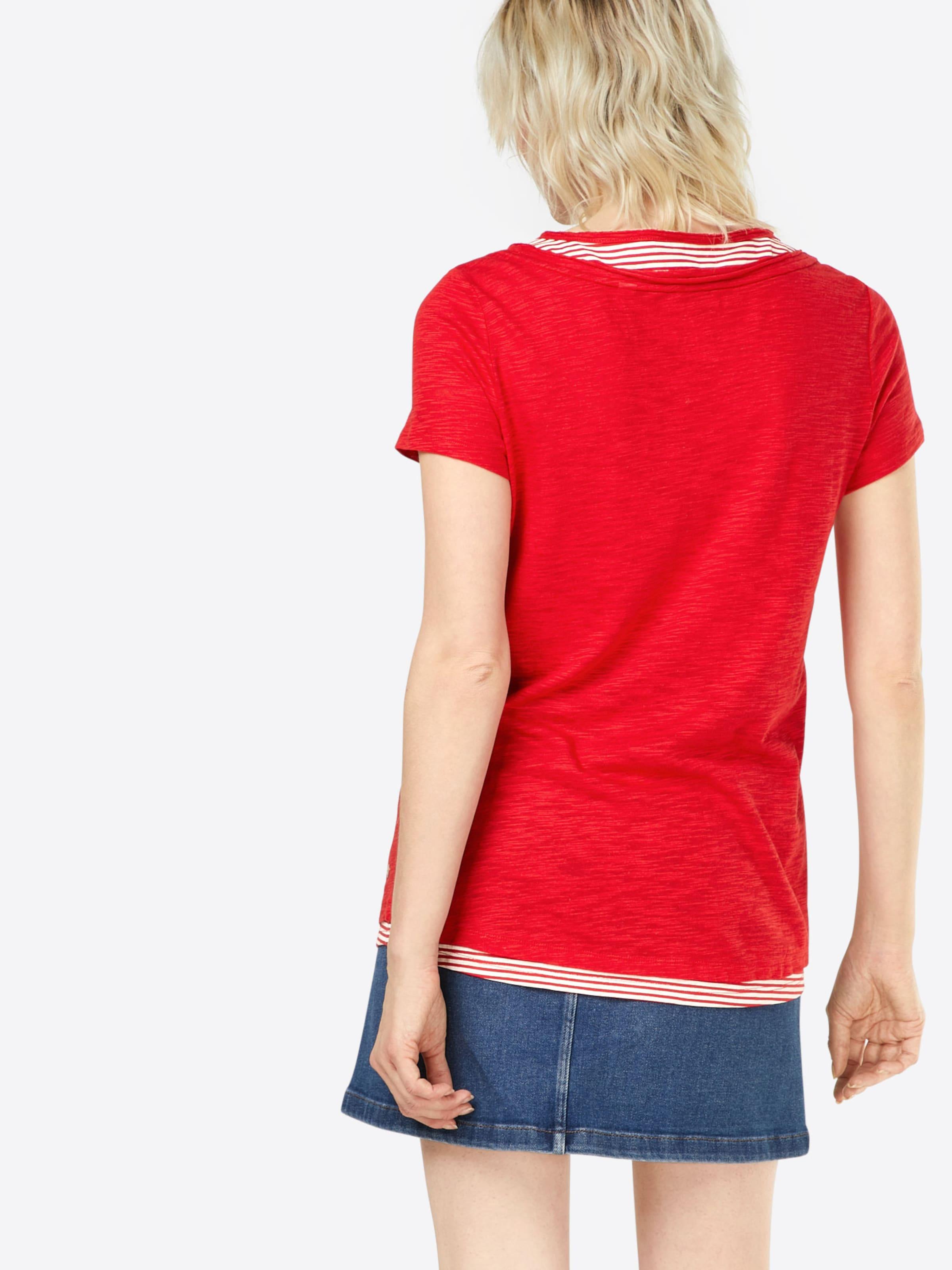 shirt Esprit Esprit T RougeBlanc T En dWexCrBo