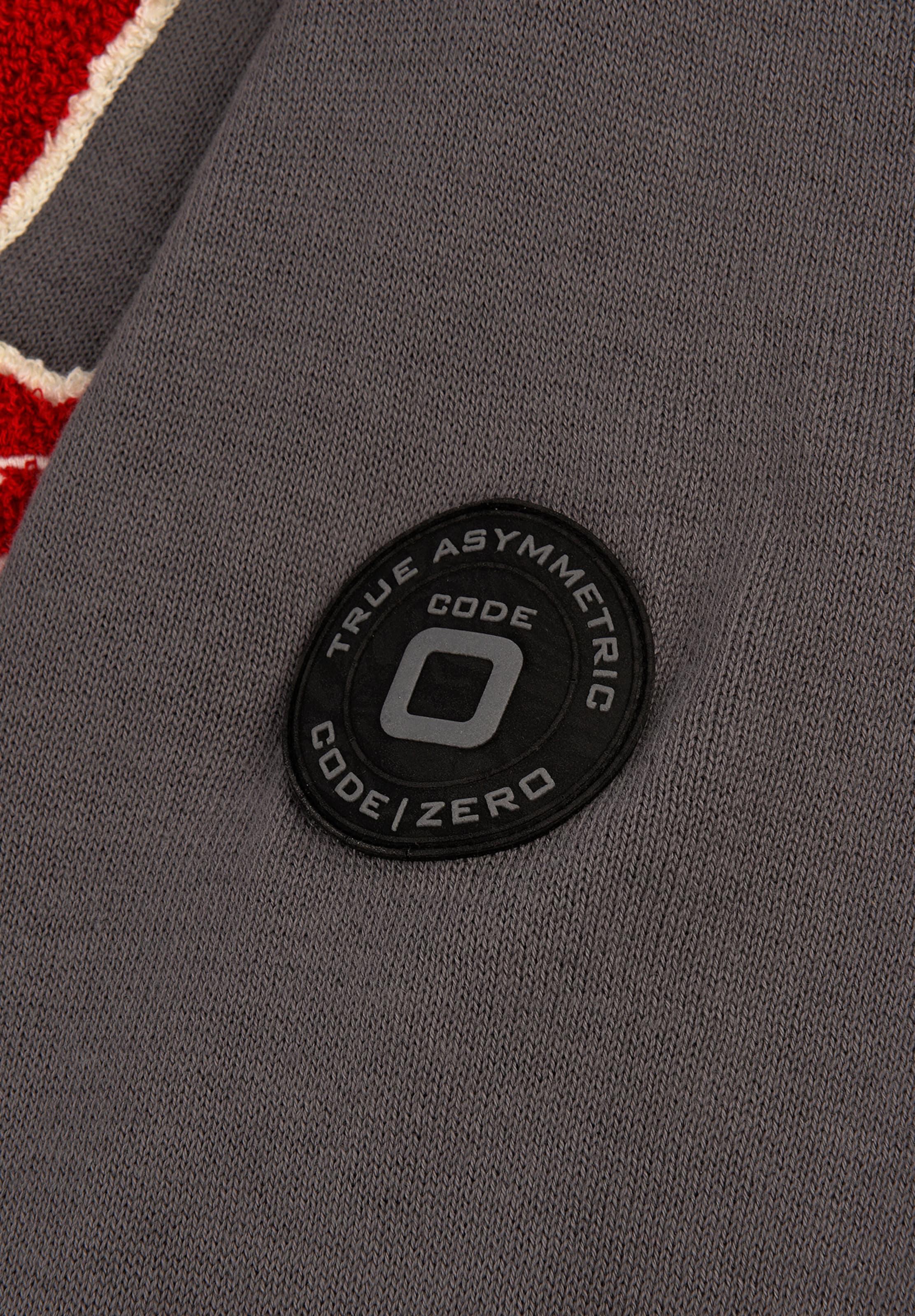 Weiß In Code DunkelgrauRot 'leeward' zero Sweater POXuwZikT