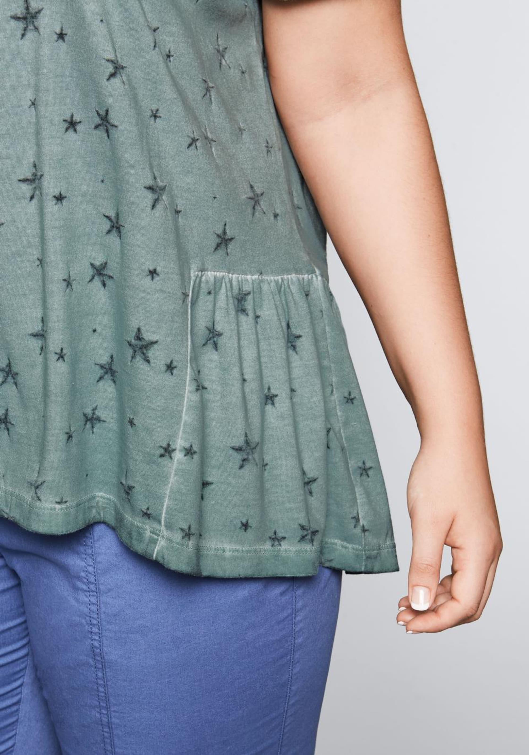 T SmaragdSchwarz shirt Sheego In ynwmvN80O