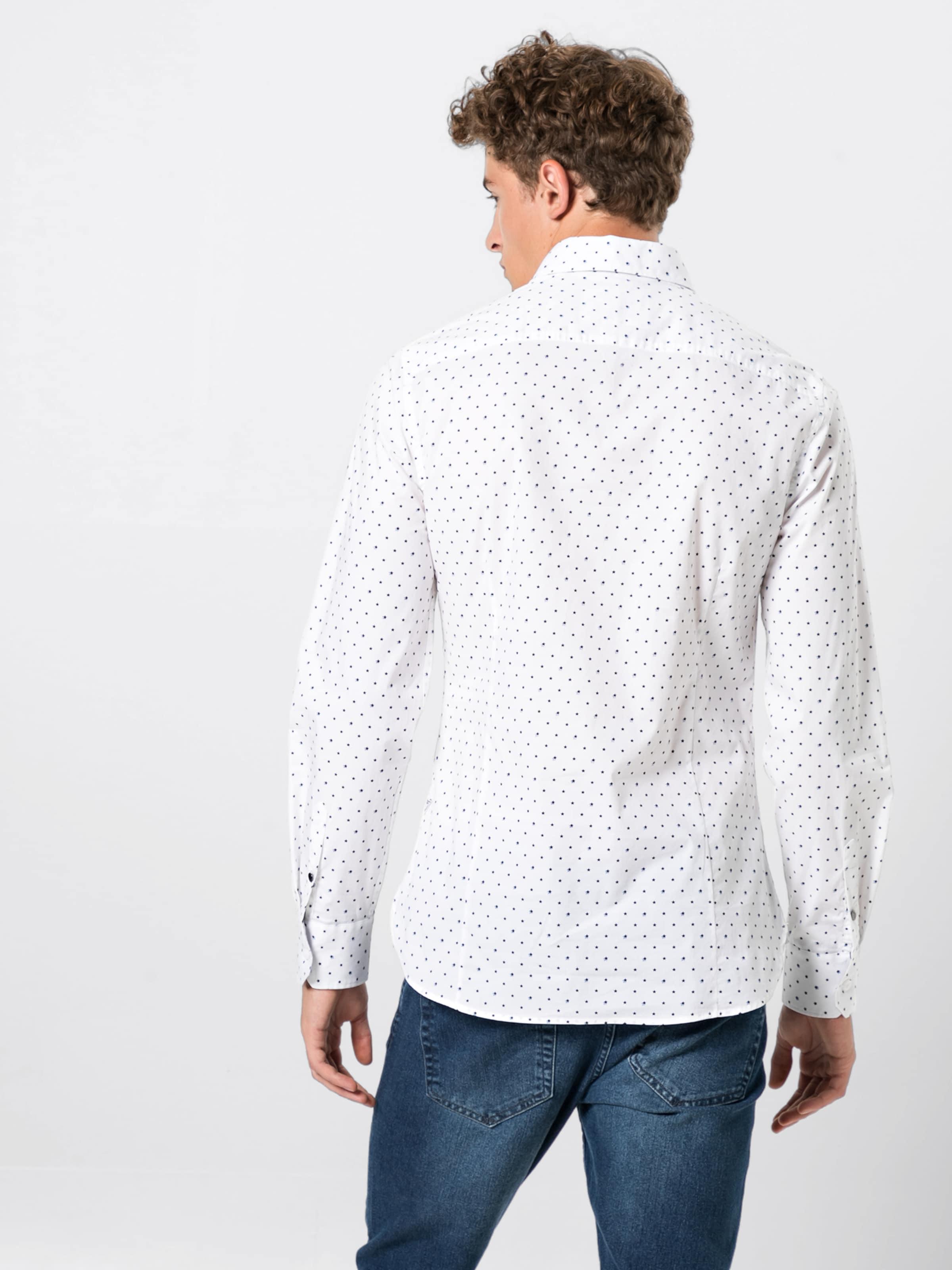 En Shirt' Chemise NoirBlanc 'ls Guess Venice zpMVGUqS