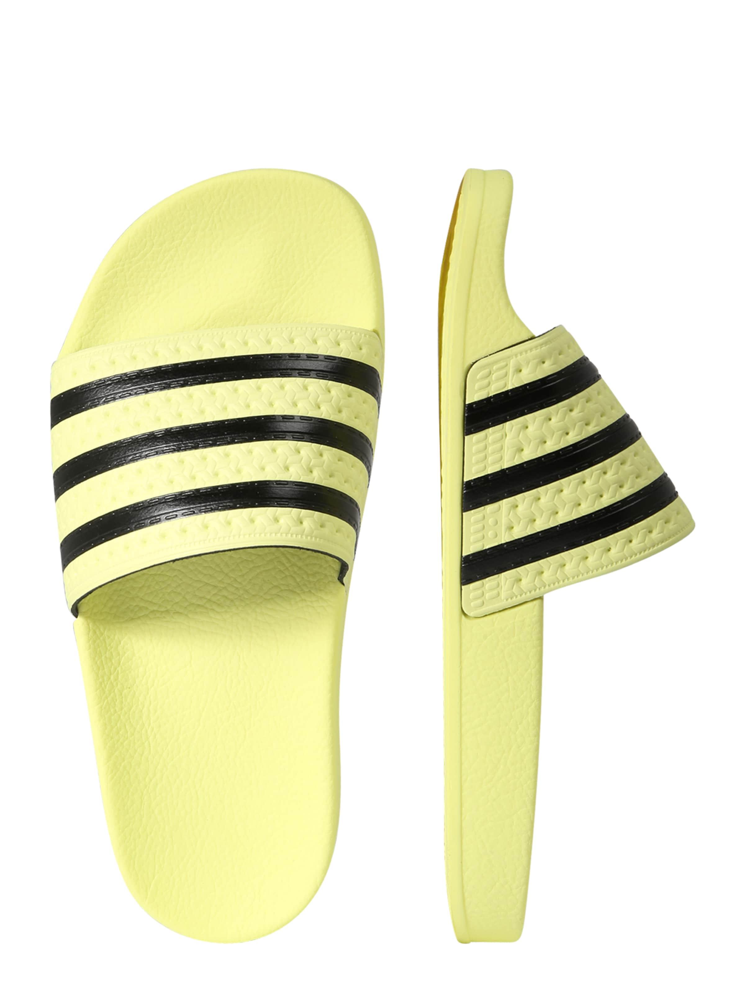 ClaquettesTongs Pastel Noir En Jaune Originals Adidas 29EHIWD