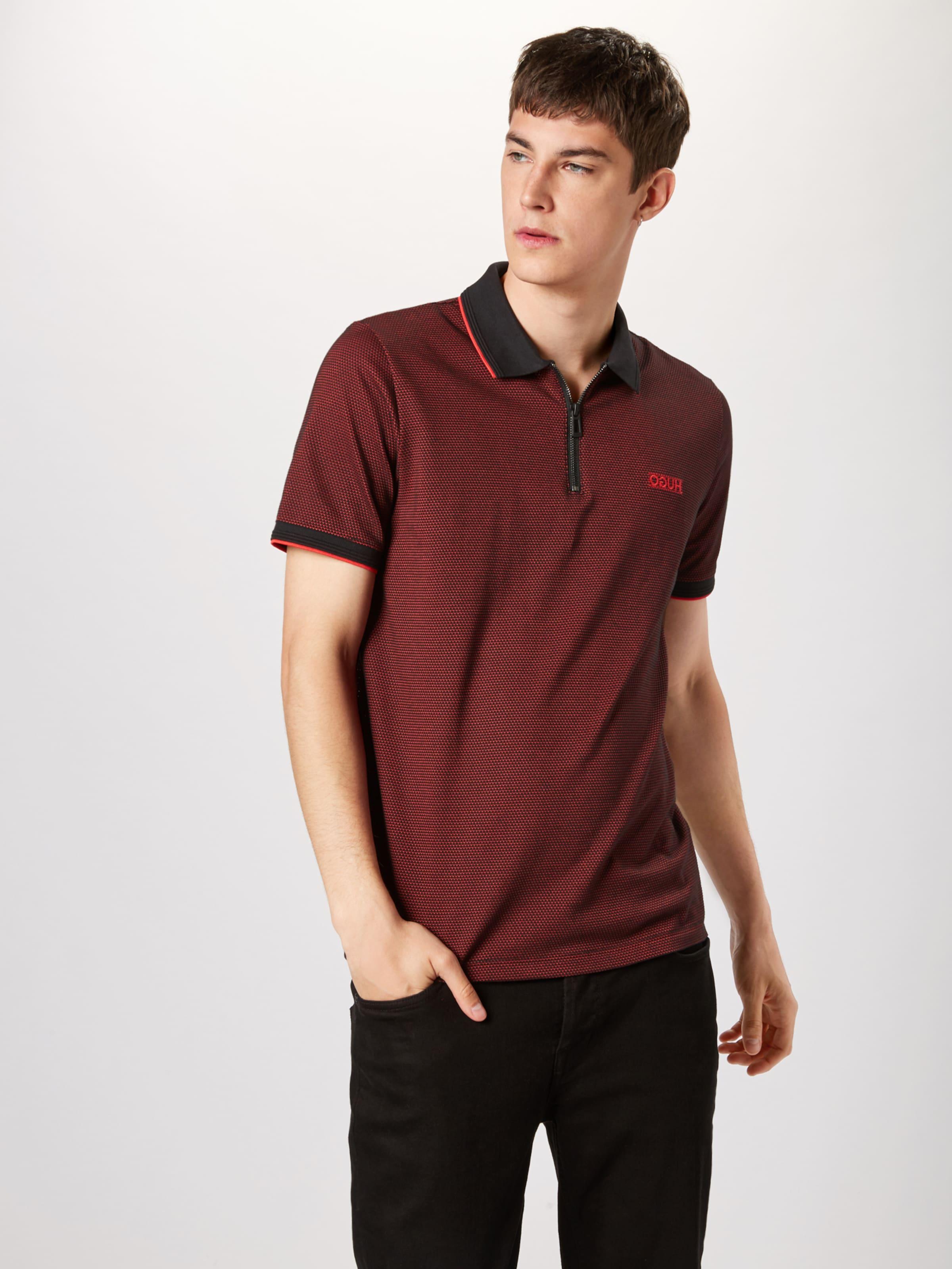 T En Hugo 'direnze' shirt SangNoir Rouge R54c3AqLj