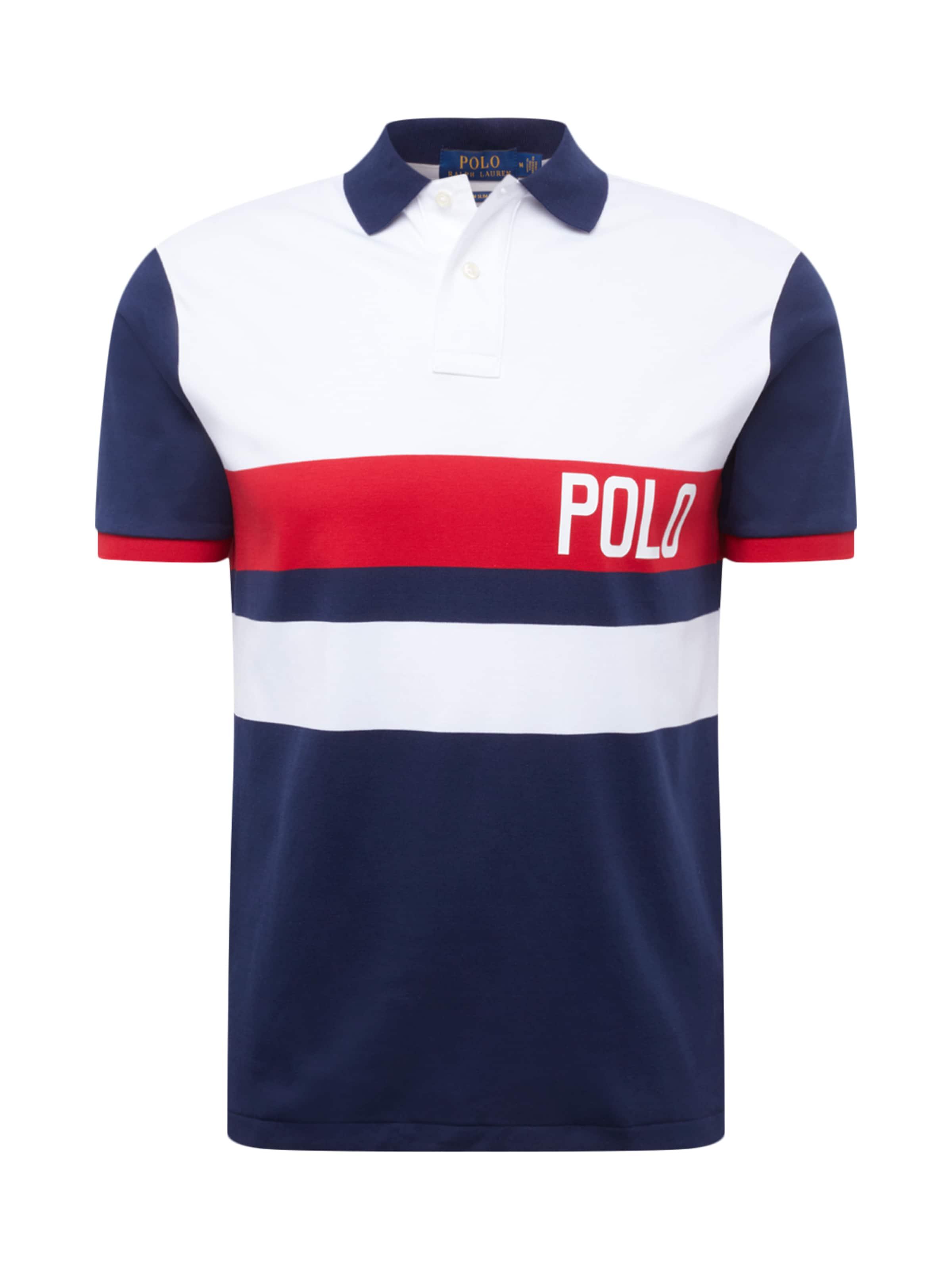 Polo Blanc BleuRouge Ralph T En shirt 'soft Touch' Lauren NO80XPknw