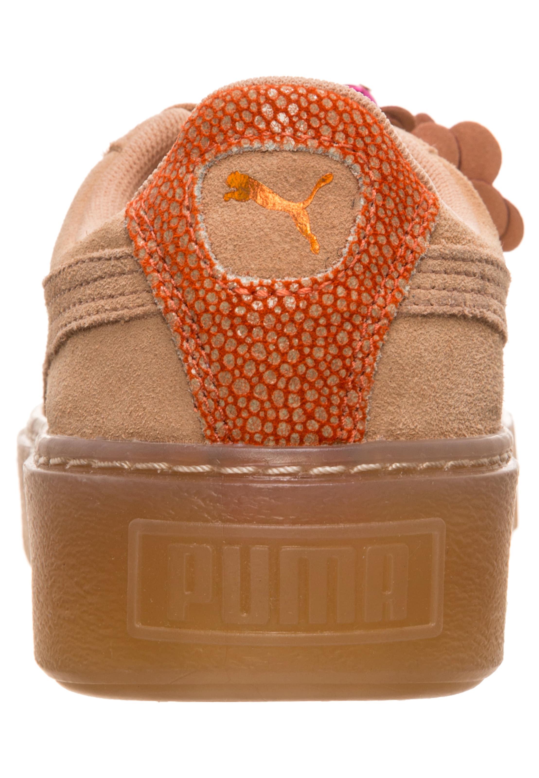 En PêcheOrange 'suede Baskets Foncé Puma Basses Platform Flower Tassel' H2W9IDEY