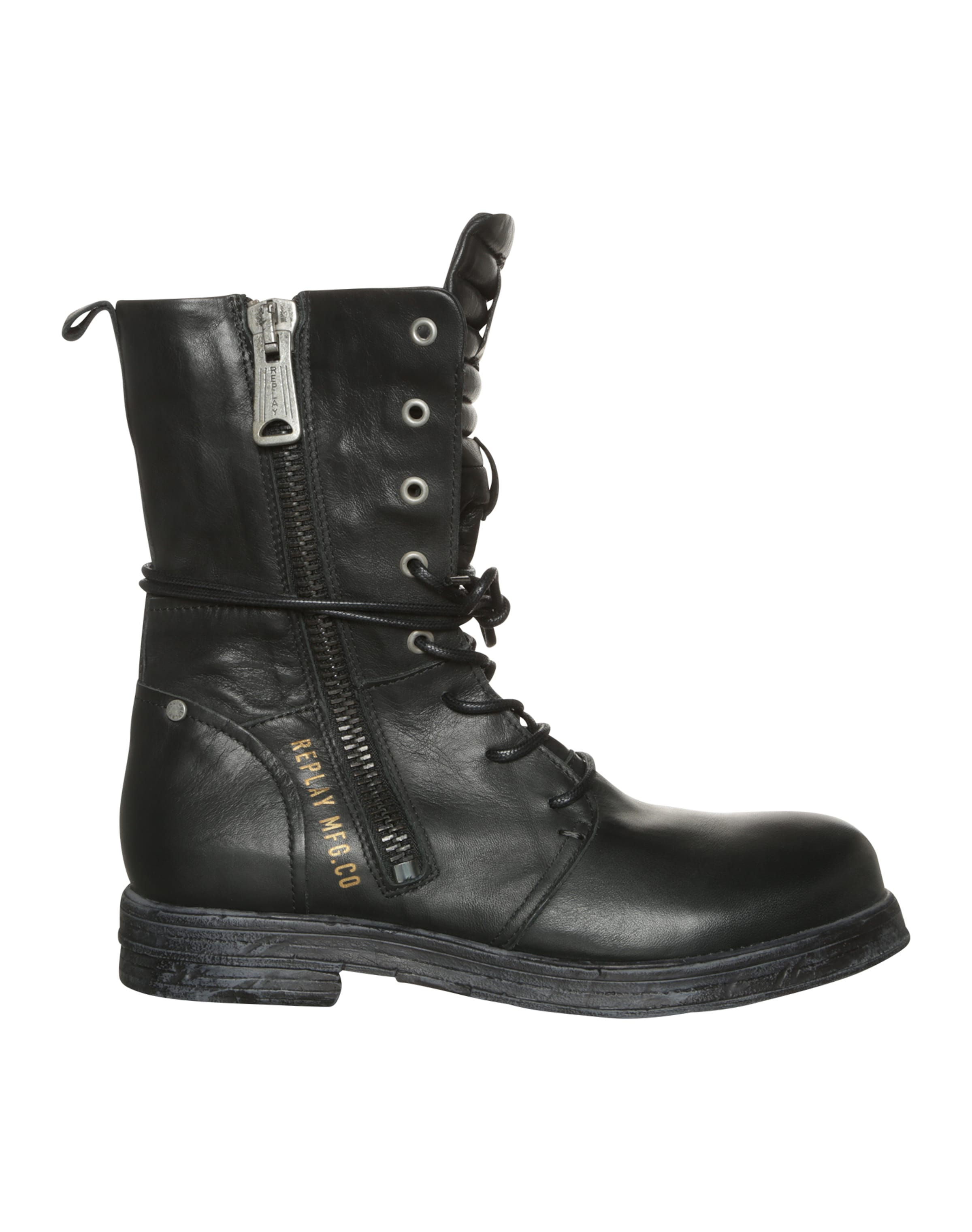 À Replay Bottines 'evy' En Noir Lacets 3LqSARjc45
