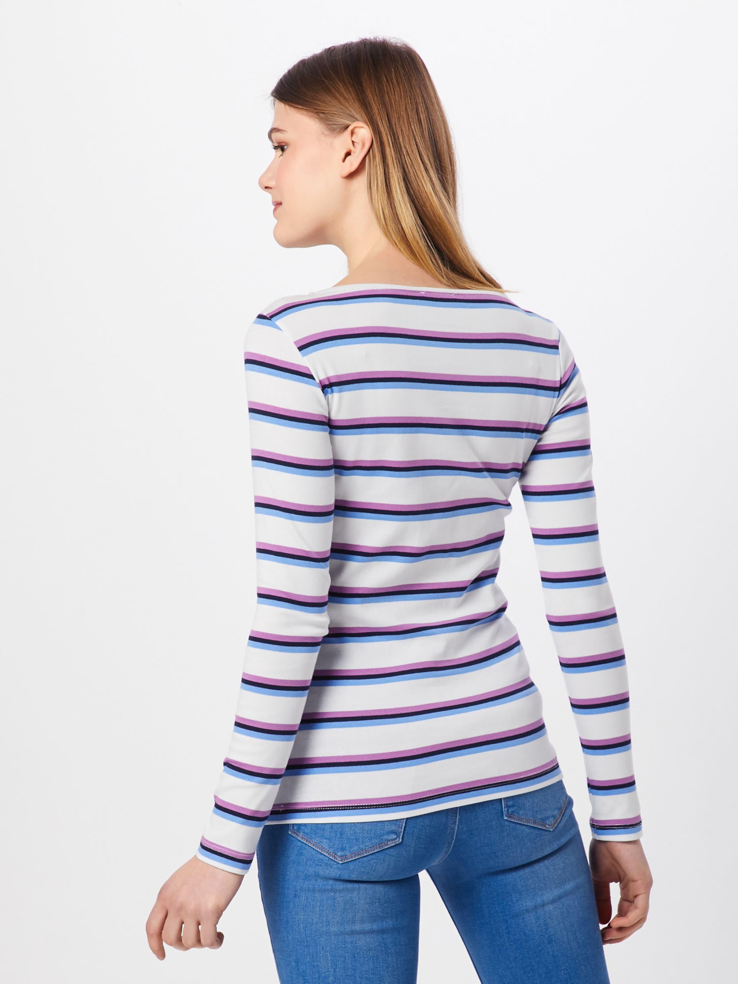 Shirt En Bleuviolet Clair T Tom Tailor H2e9id Blanc l1FT3KJc