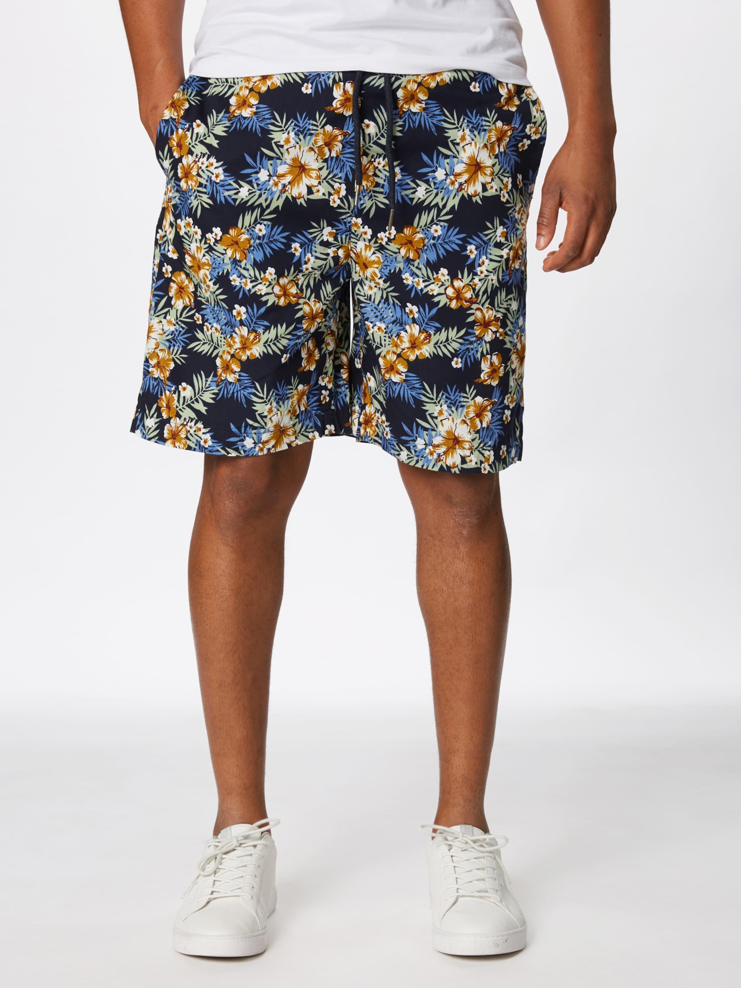 Urban Classics Noir 'pattern Vert Pantalon Foncé Resort' BleuJaune En Rouge rsQhtd