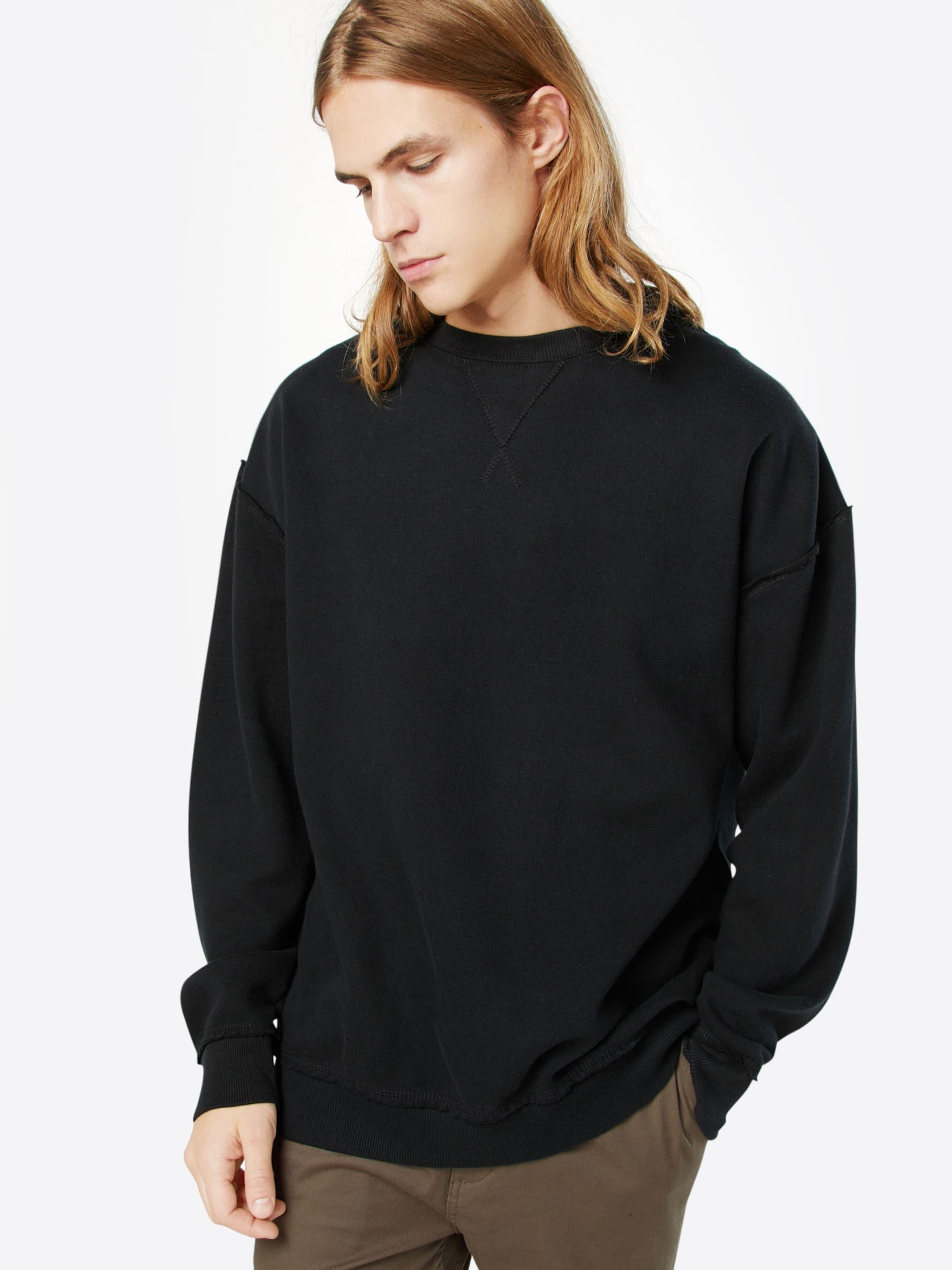 shirt Edge Sweat Noir Urban Classics Crew' En 'open nk8X0wOP