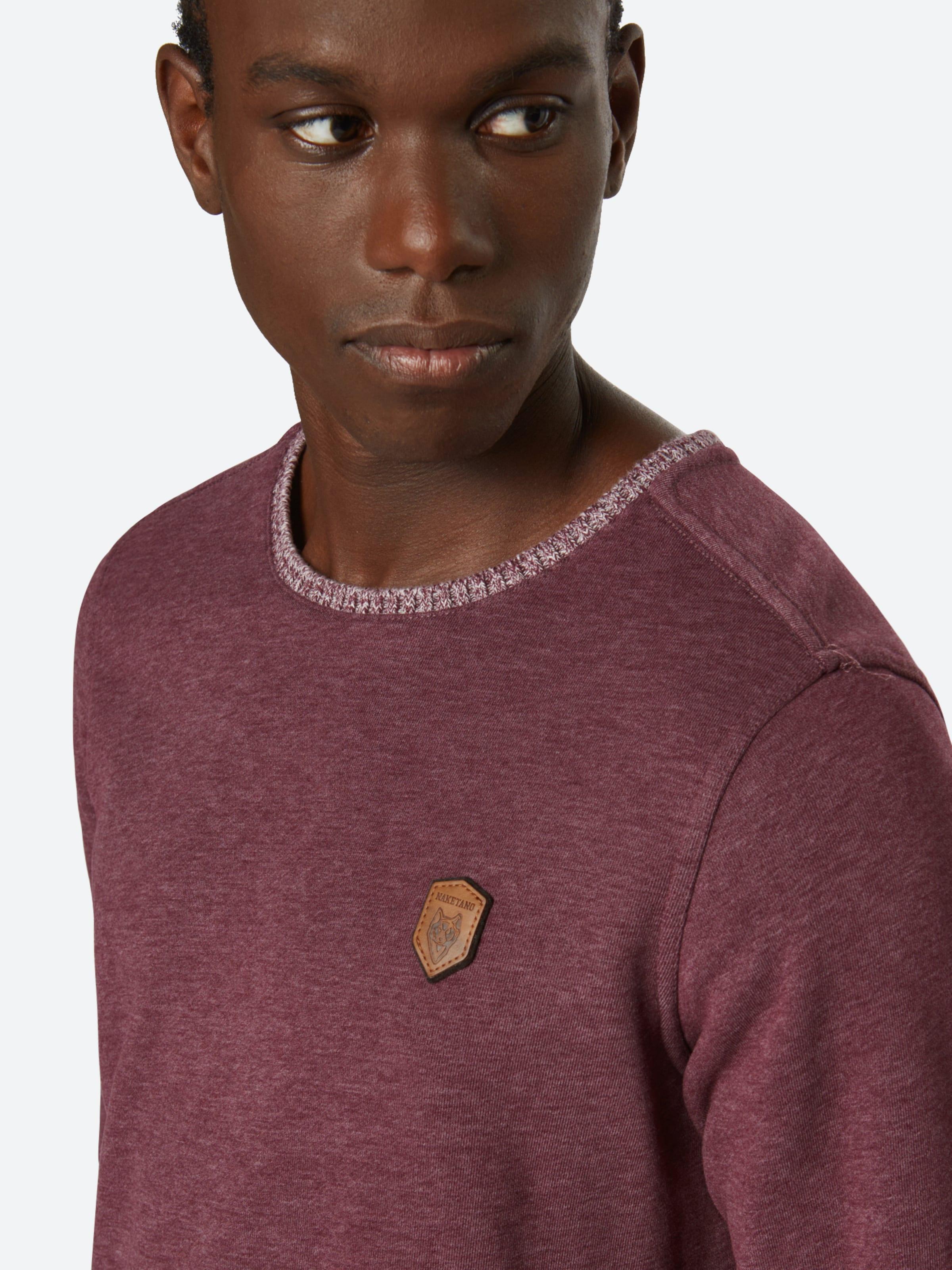 'geschichtenerzähler' shirt Sweat Naketano En Bleu grisGris 6bIYf7gyv