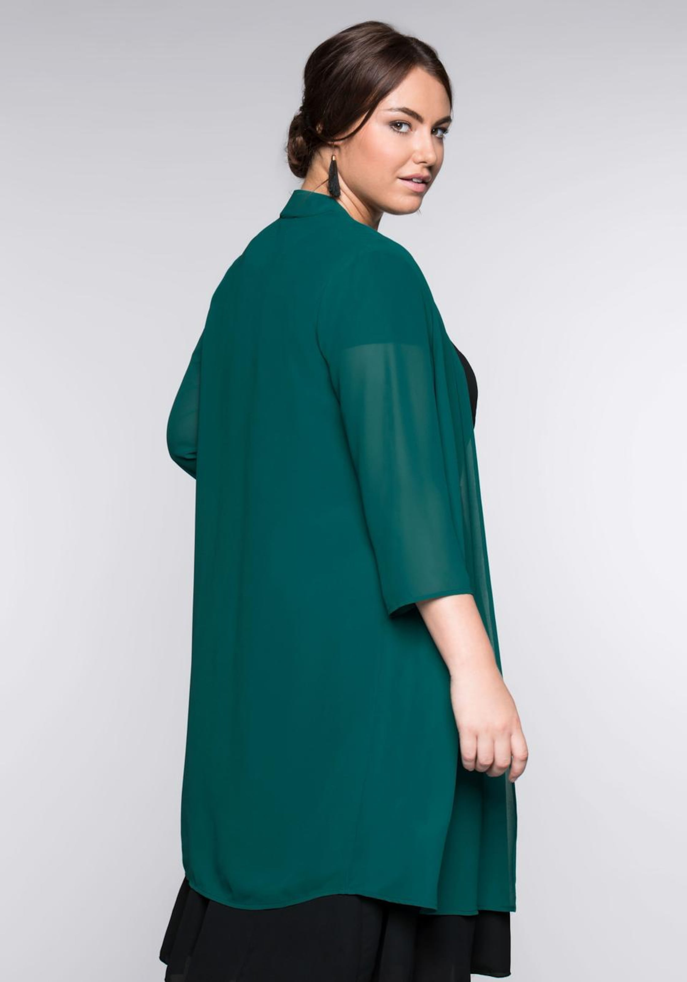 In Sheego Sheego Longbluse Style Smaragd 1KlJ3uTFc5