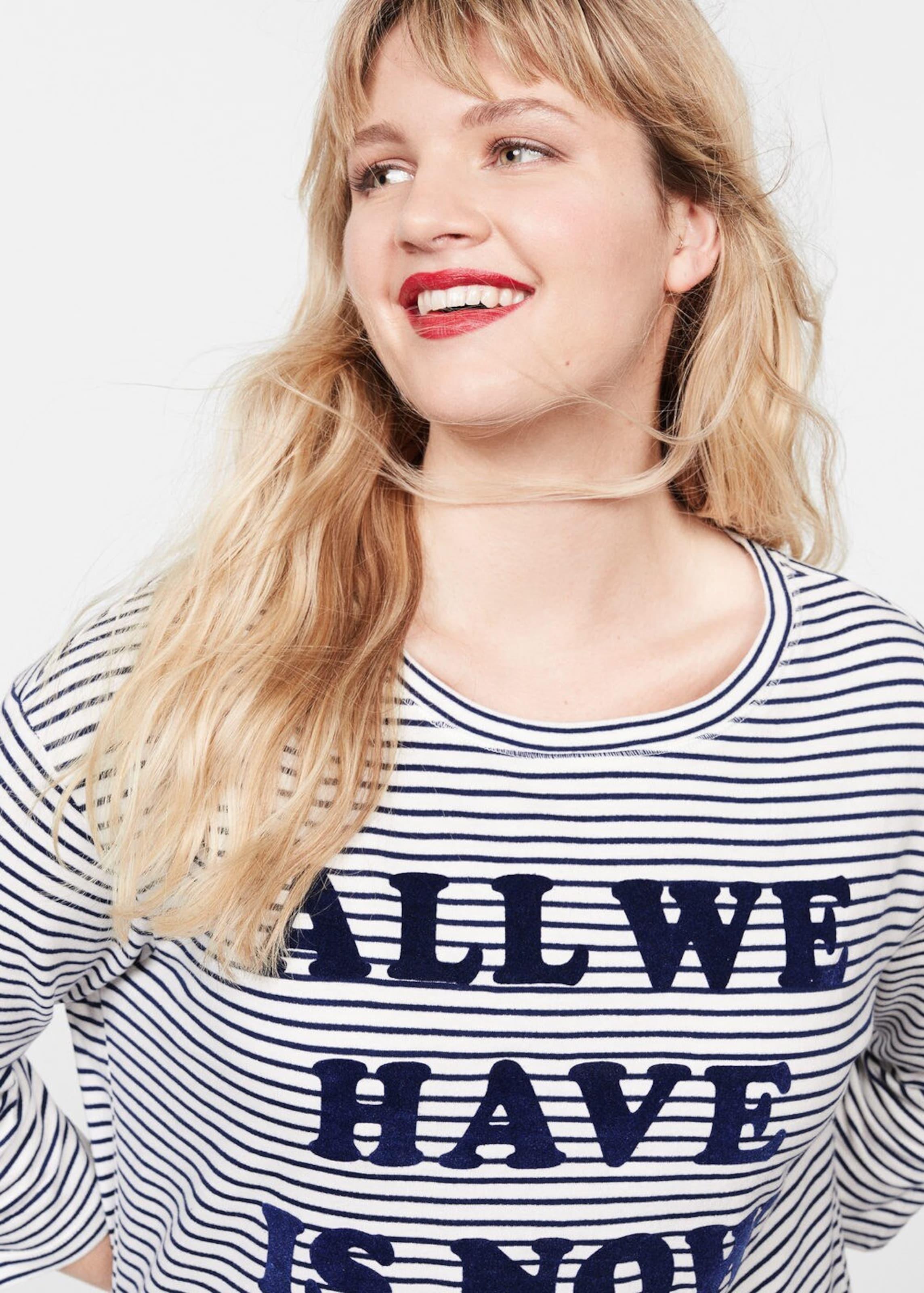 NavyWeiß Violeta By 'people5' In Kleid Mango 3Rq45LAj