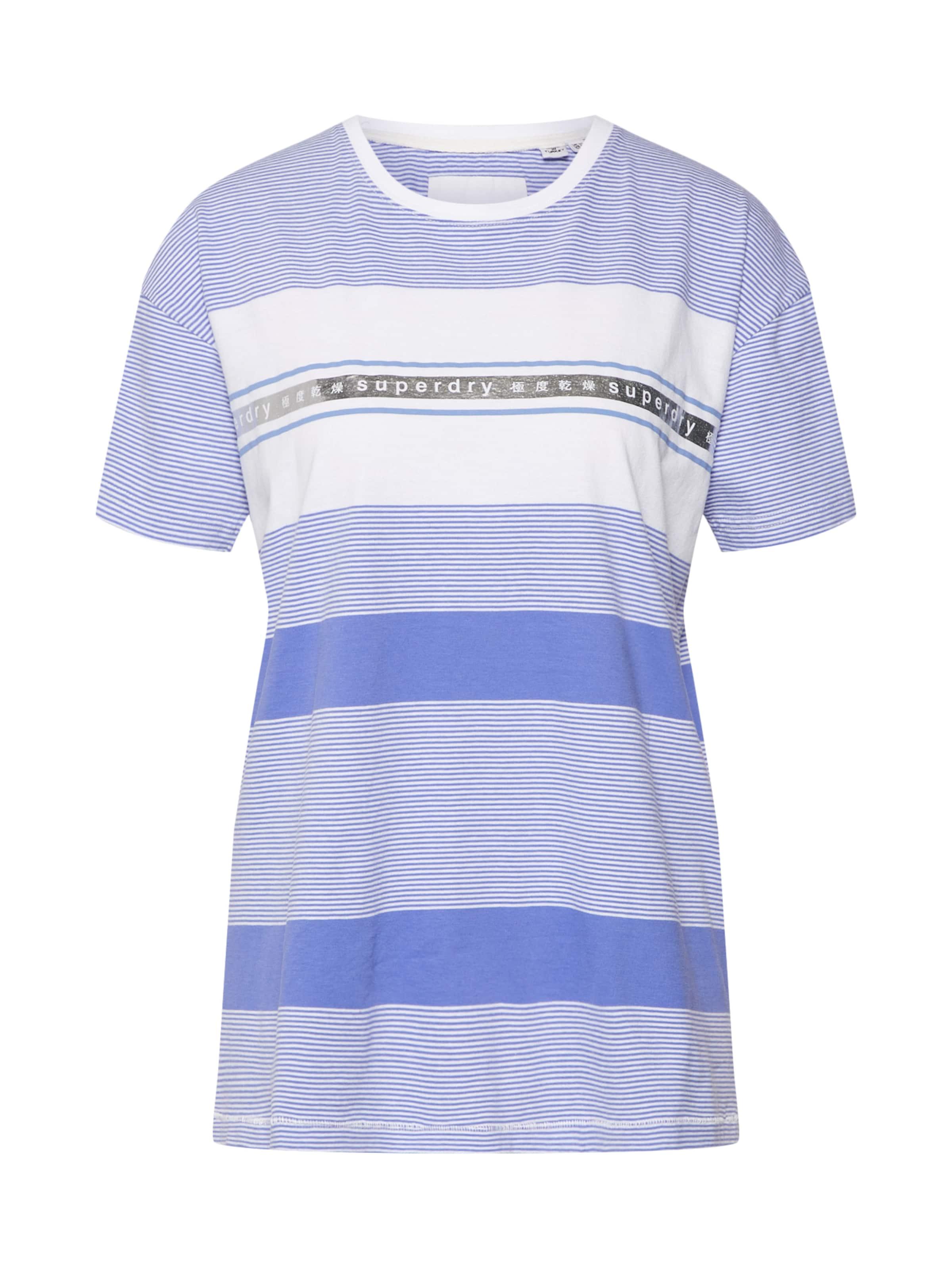 'tape Portland' BleuBlanc shirt Stripe En Superdry T ukXTPZOi