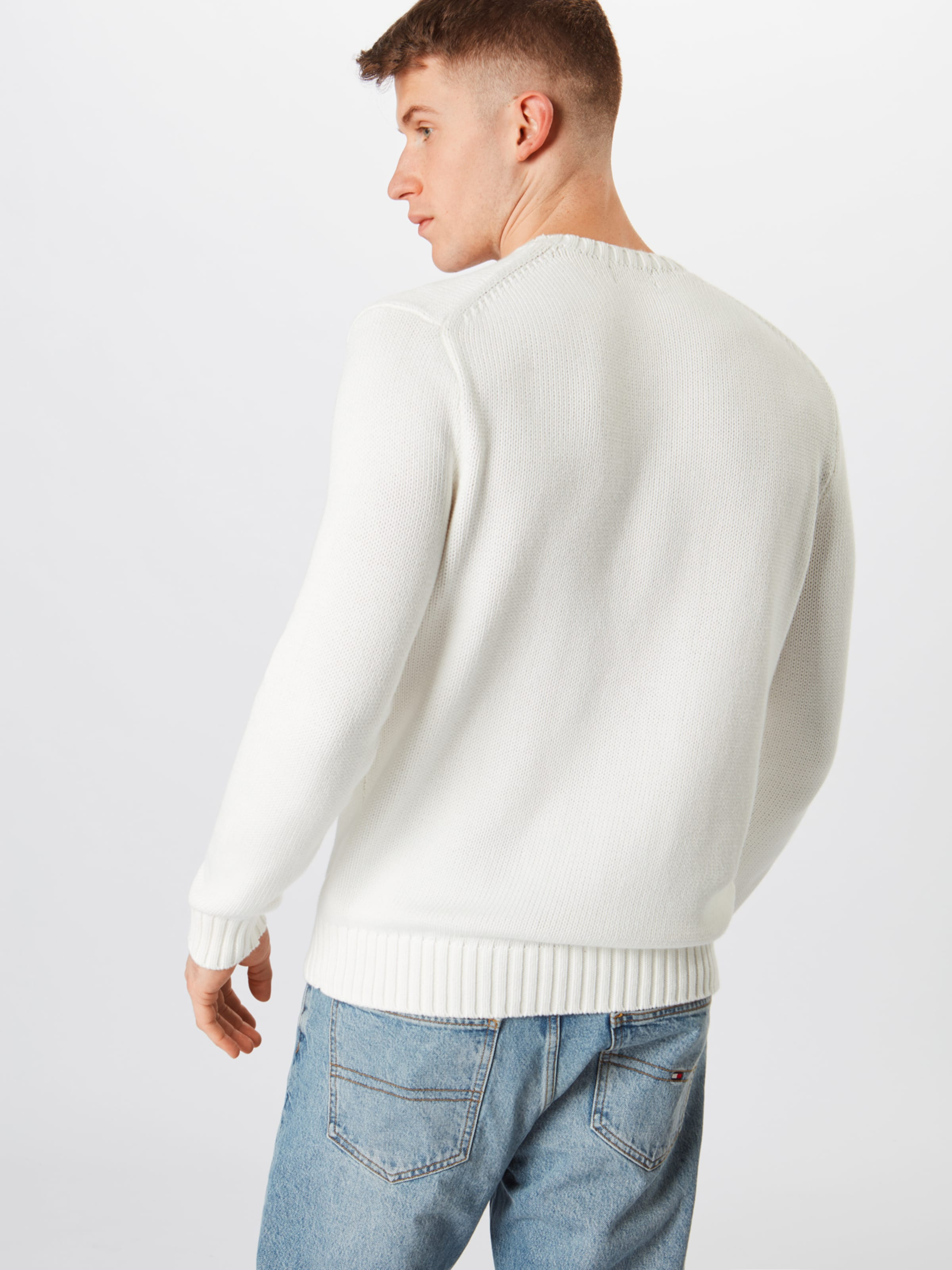 En long Cn Polo De Lauren over Ralph Pull 'logo Sleeve Vin Bleu MarineLie sweater' bf76mIYgyv