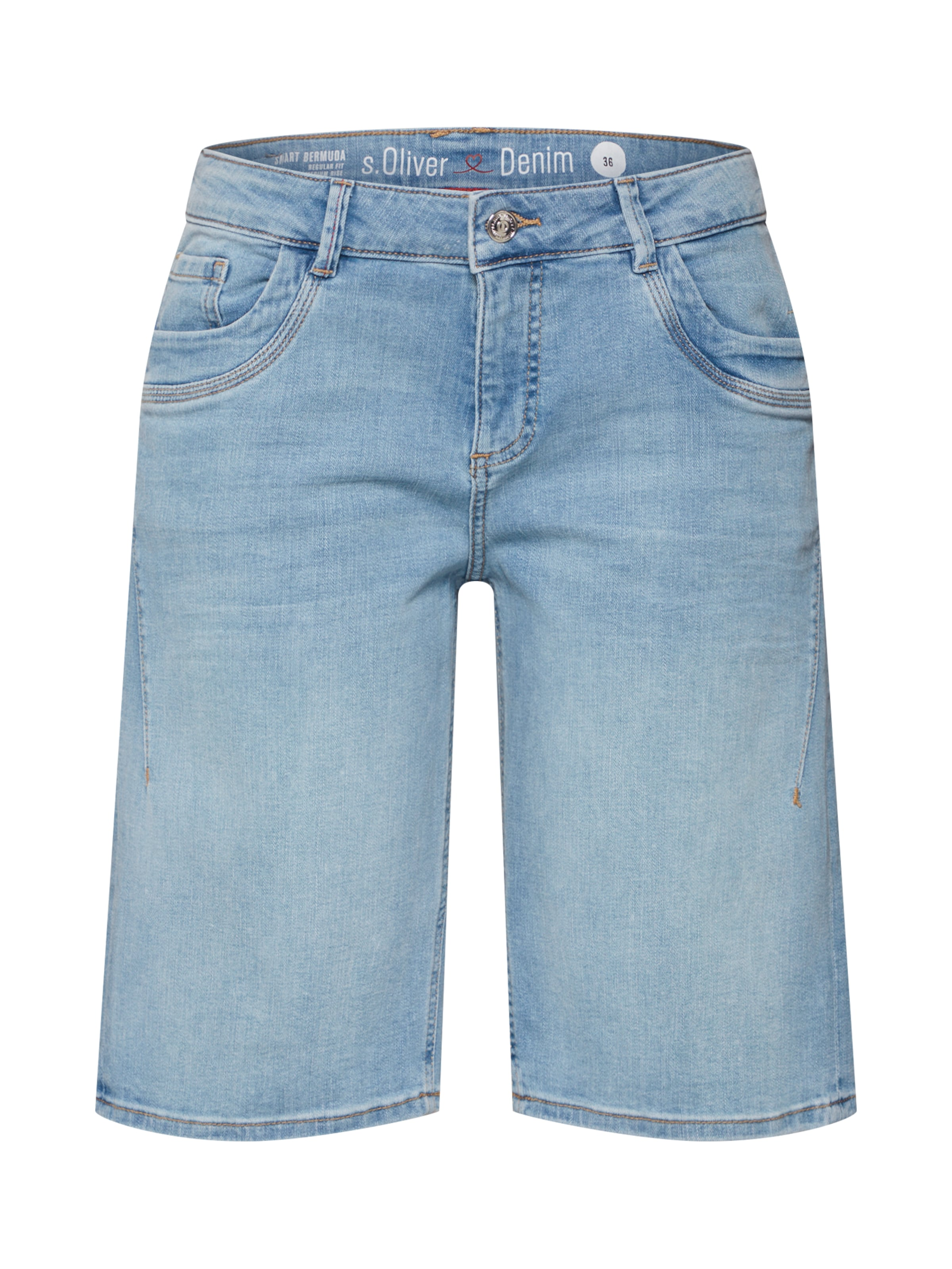 Denim Label En 'shorts' Red S oliver Bleu Jean lJK1Fu3Tc