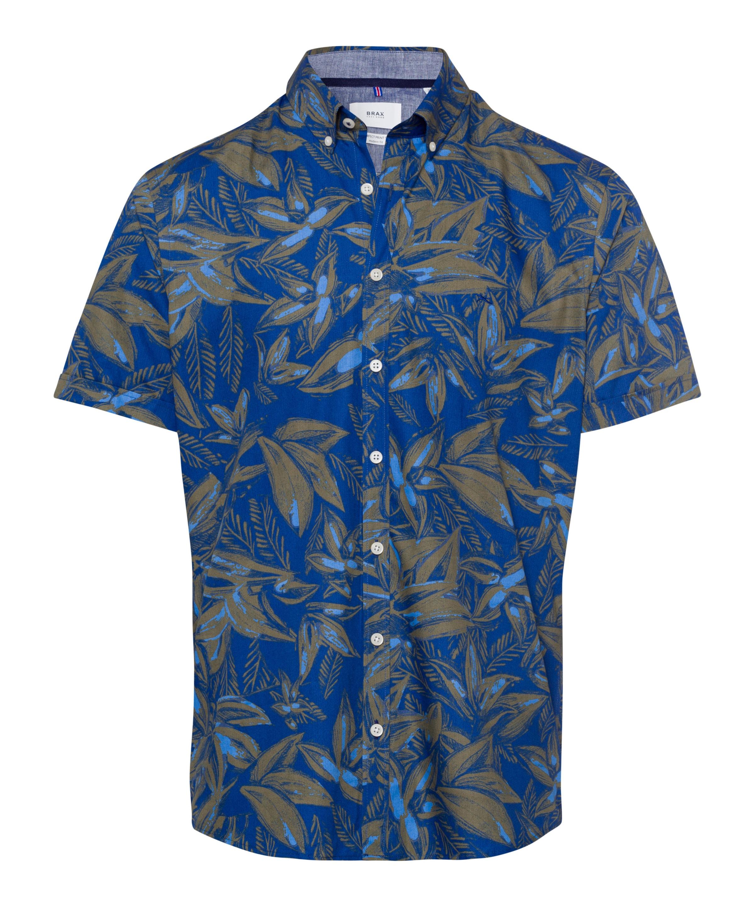 Hemd 'dan' In Khaki BlauHellblau Brax UqzpSMV