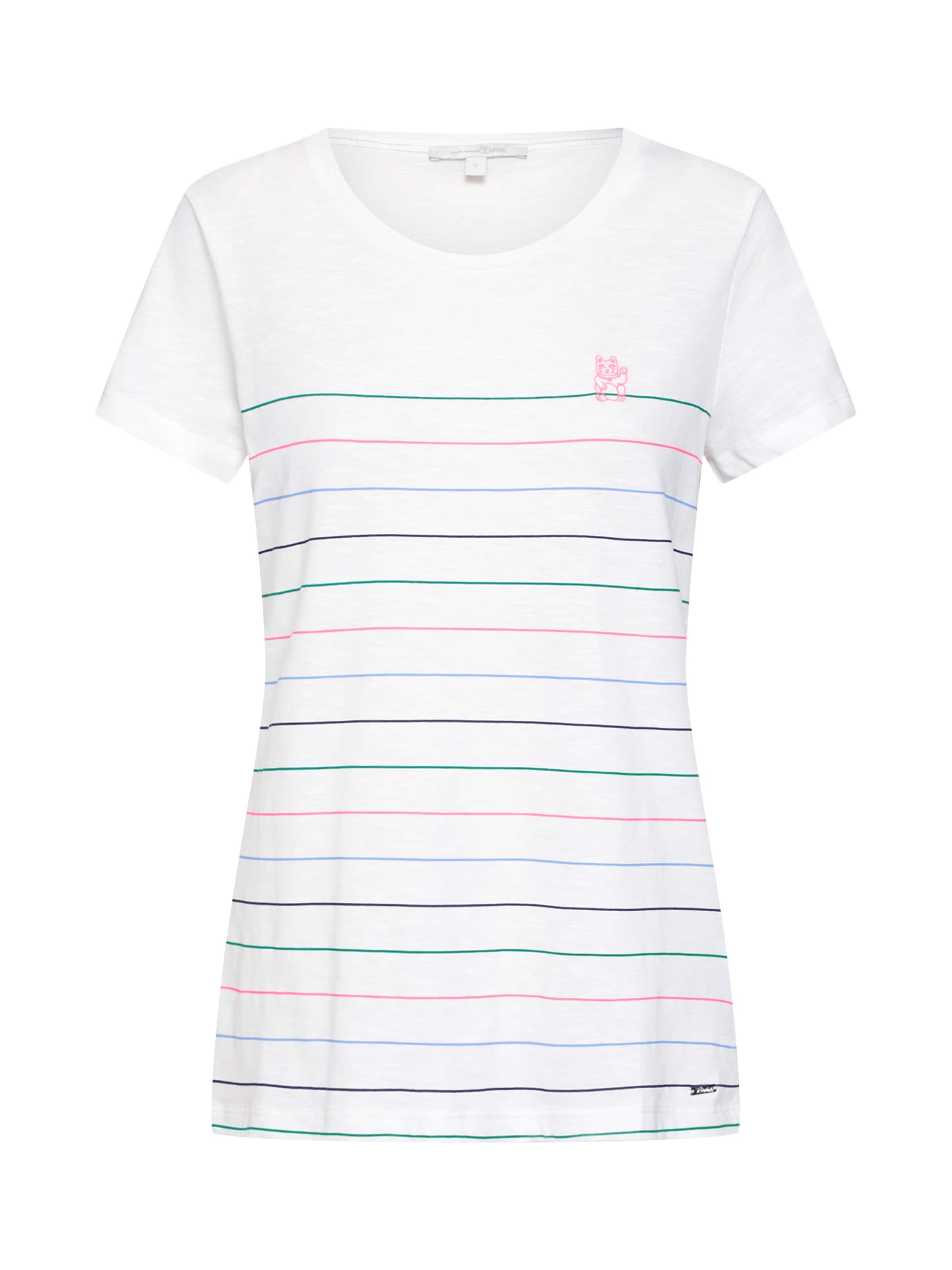 shirt T CouleursBlanc Denim En Cassé Tom Mélange De Tailor wPiulTOkZX