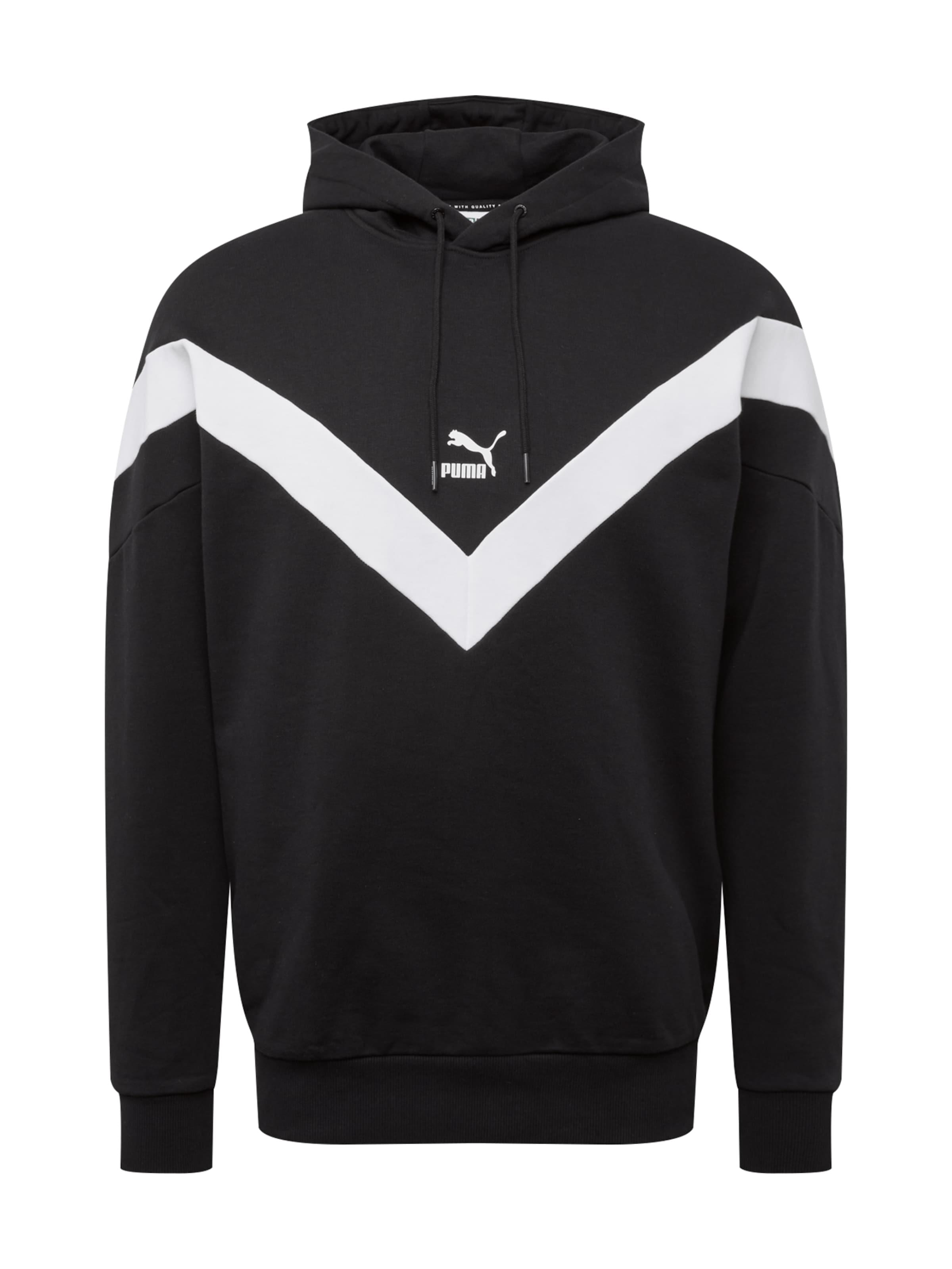 En shirt Puma Sweat 'iconic' NoirBlanc nO80PwkX