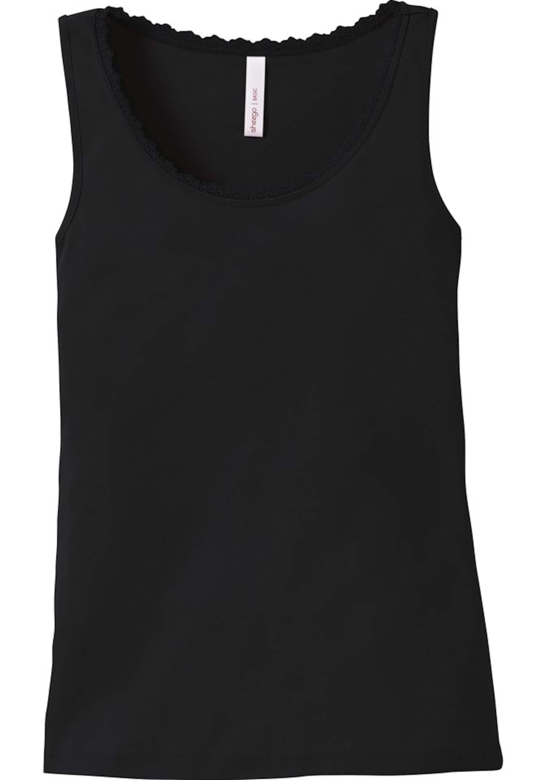 Tanktop Denim Basic Sheego Casual In Black rxdBoeC