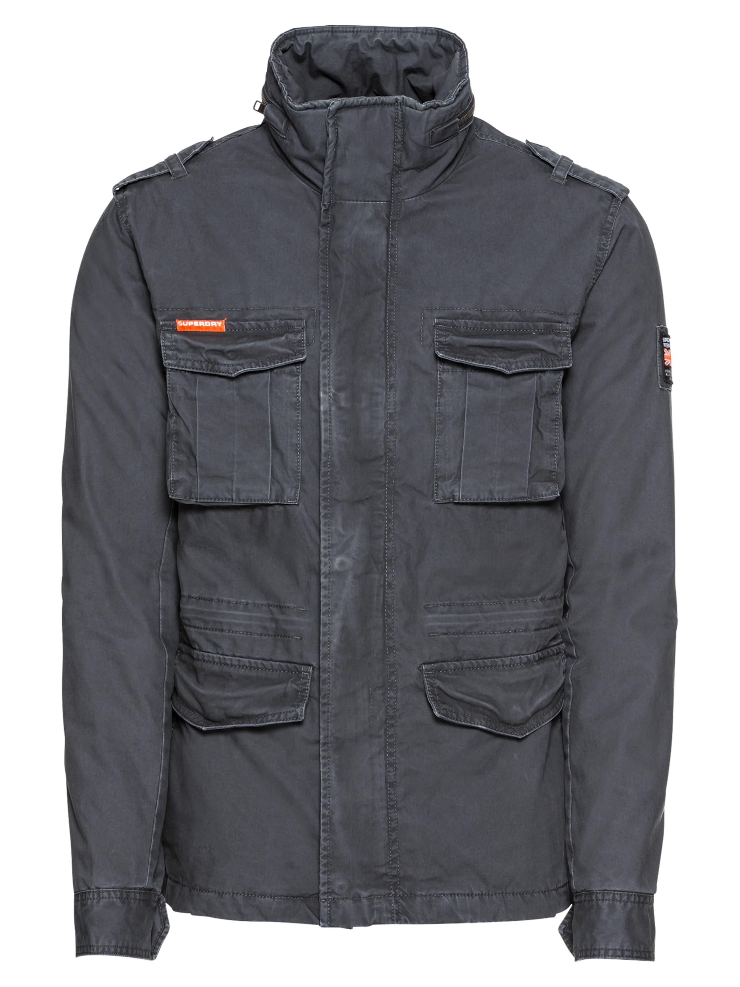 Veste Foncé Gris saison Mi 'classic Military Superdry Rookie Jacket' En Ybfgy7v6