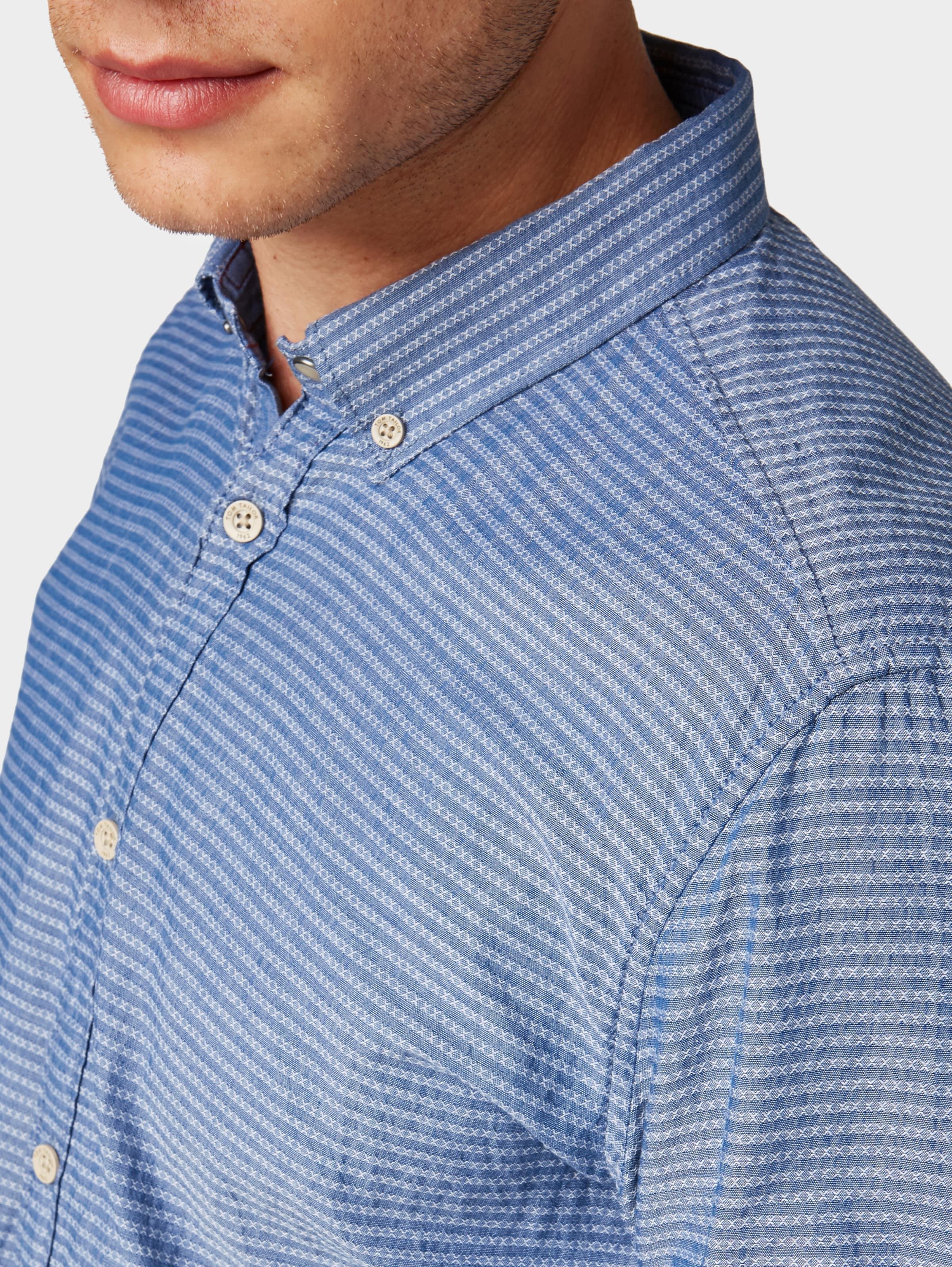 Blau Tailor Tailor Kurzarmhemd Blau Tom Tom Kurzarmhemd In In pjUzLqVSMG