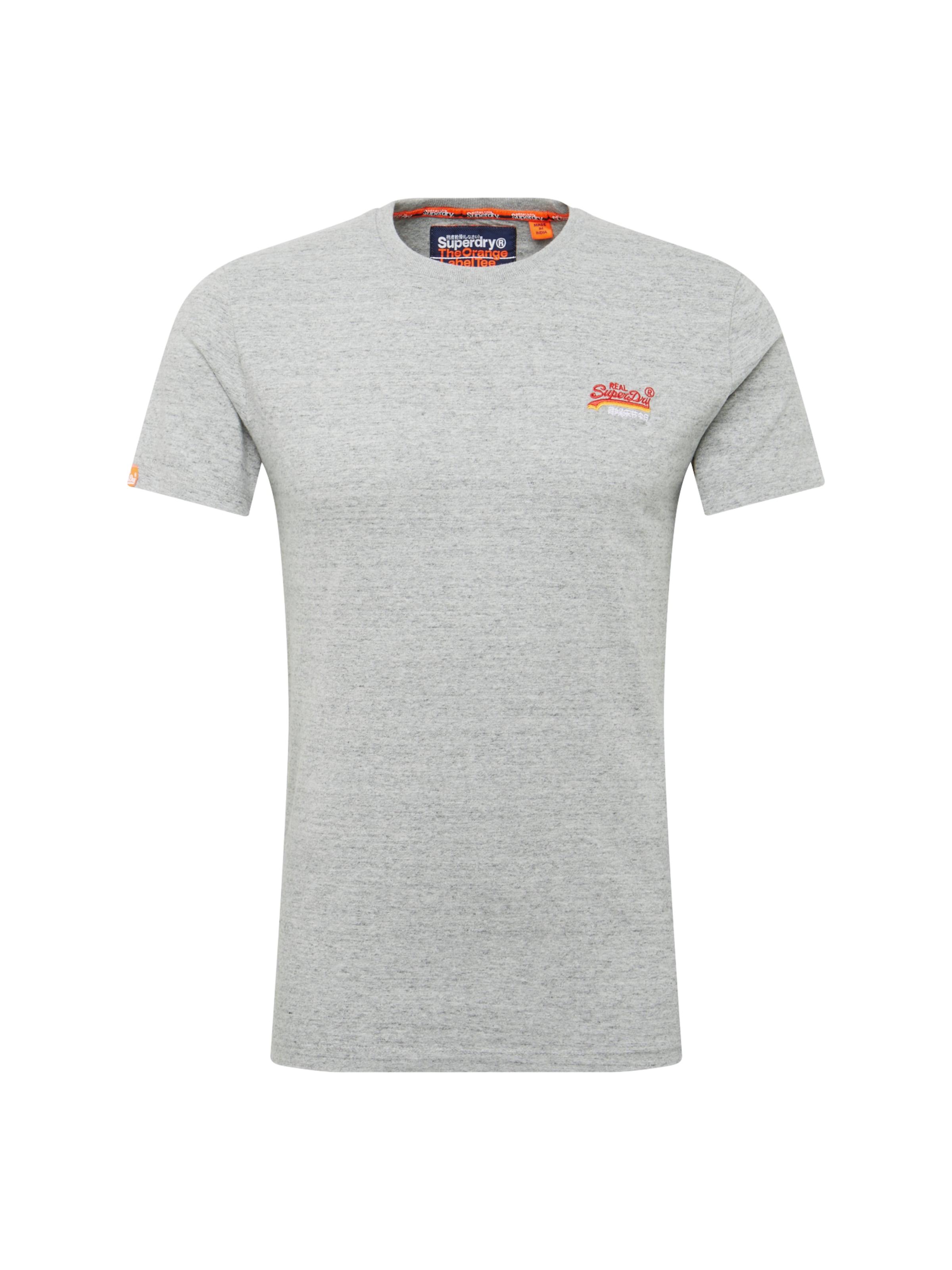 shirt Turquoise Label En Superdry T 'orange Vintage Embroidery' qzMVSUpG