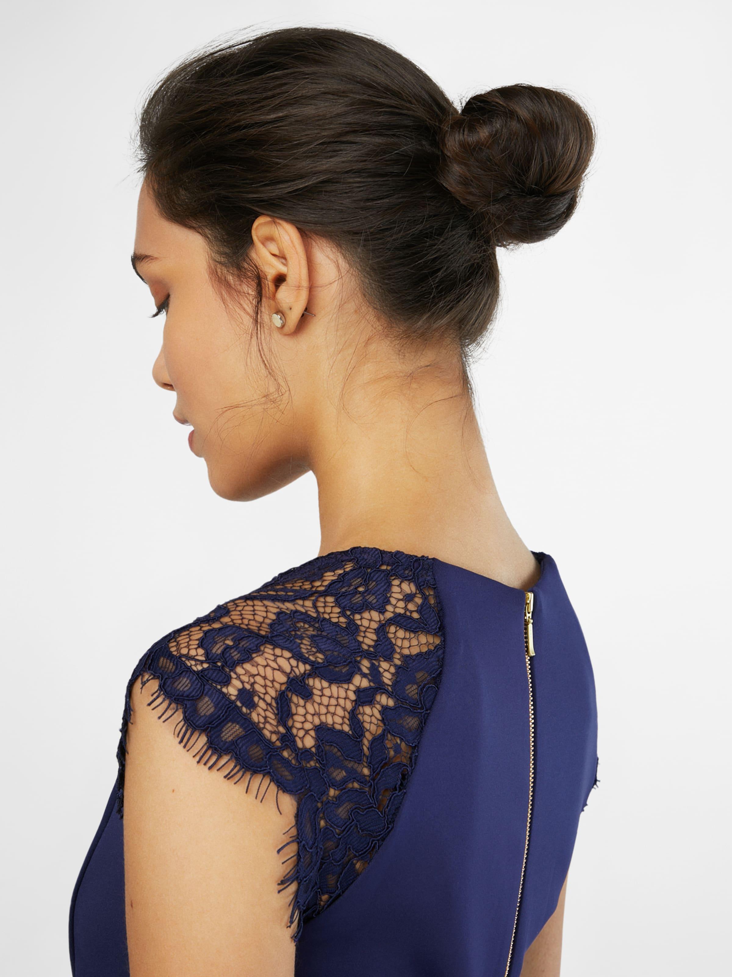 Shoulder Foncé Pencil' Robe Scuba Perkins 'lace En Dorothy Bleu OPwkn0