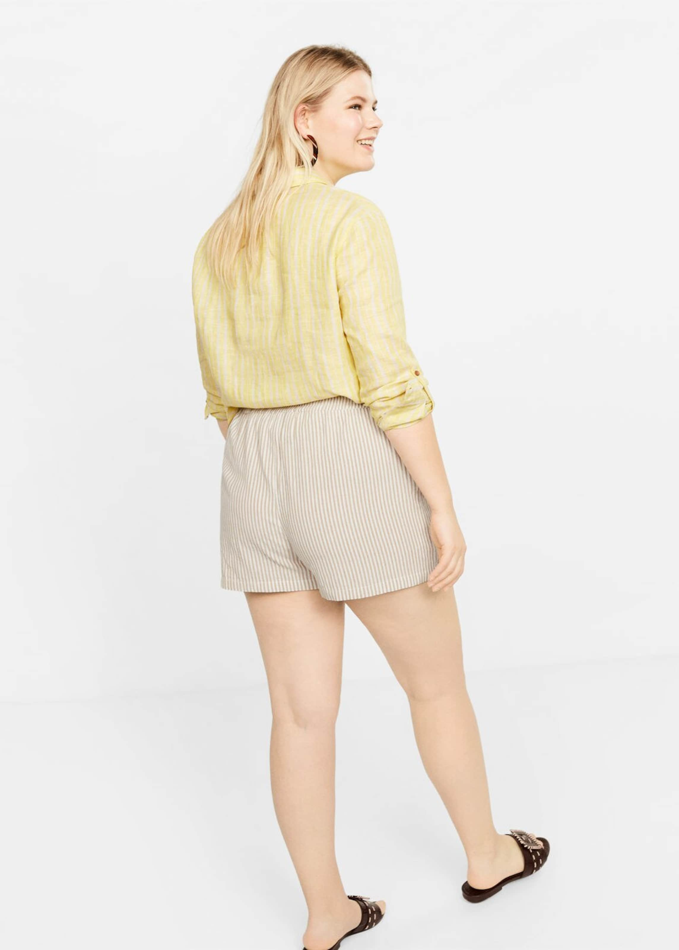 Violeta By Shorts 'small' In Mango HellbraunWeiß 1TlFJcK