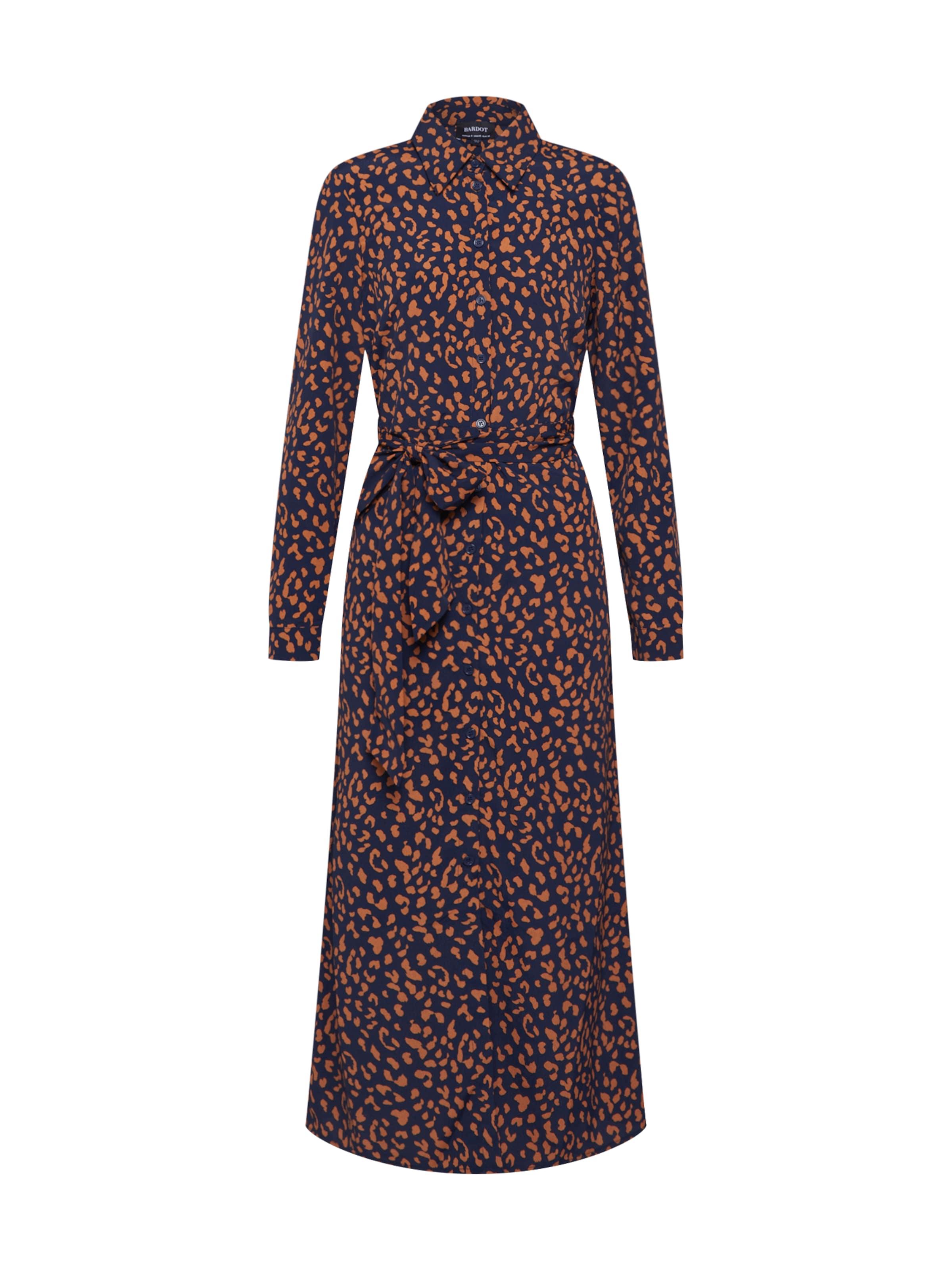 MarineOrange Robe Bleu En Foncé chemise Bardot 0kXNwP8nO