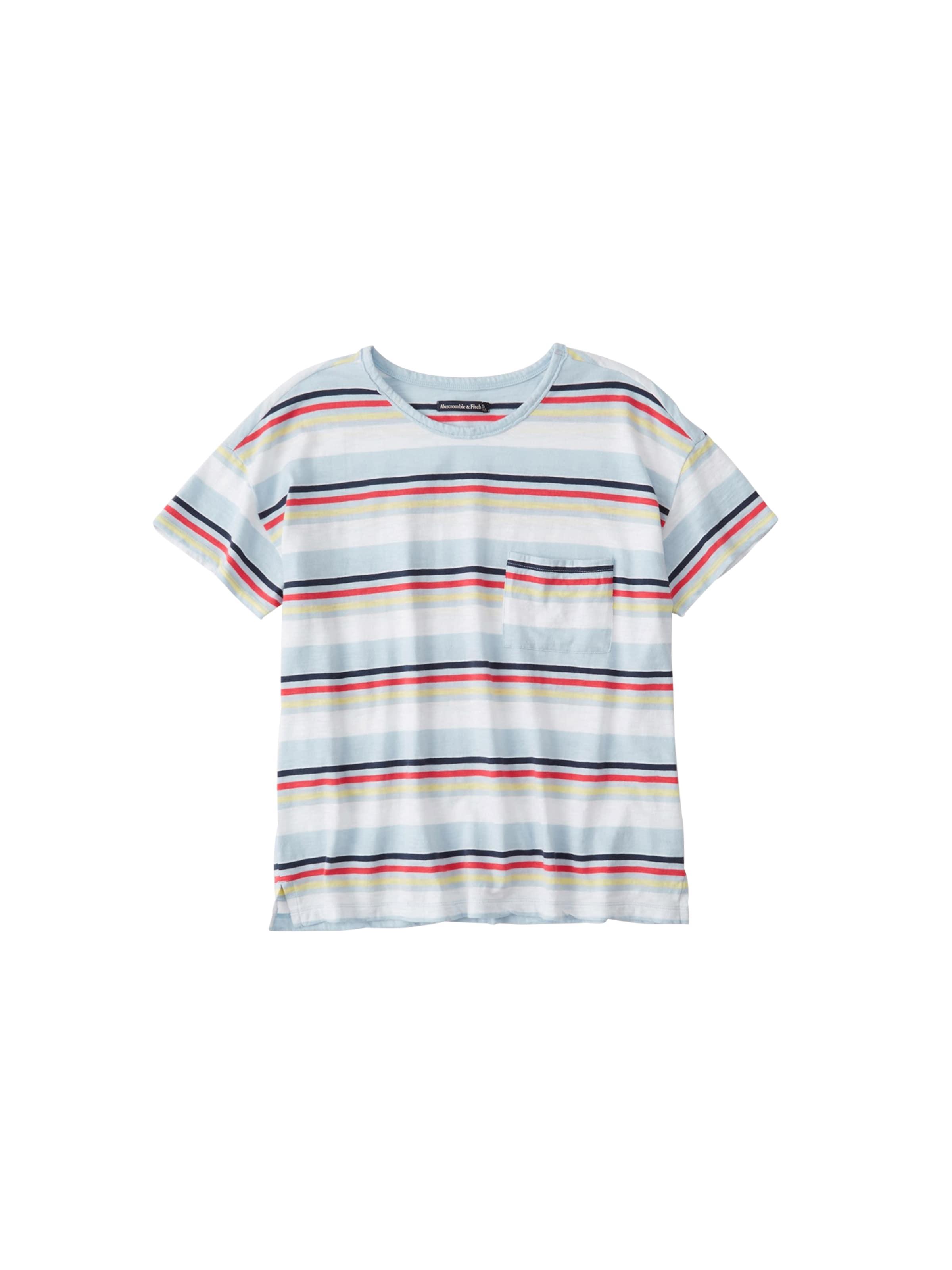 T Tee shirt ss Couleurs Abercrombieamp; Mélange Drop En De Shoulder Stripe' Fitch 'sb19 vn0wON8m