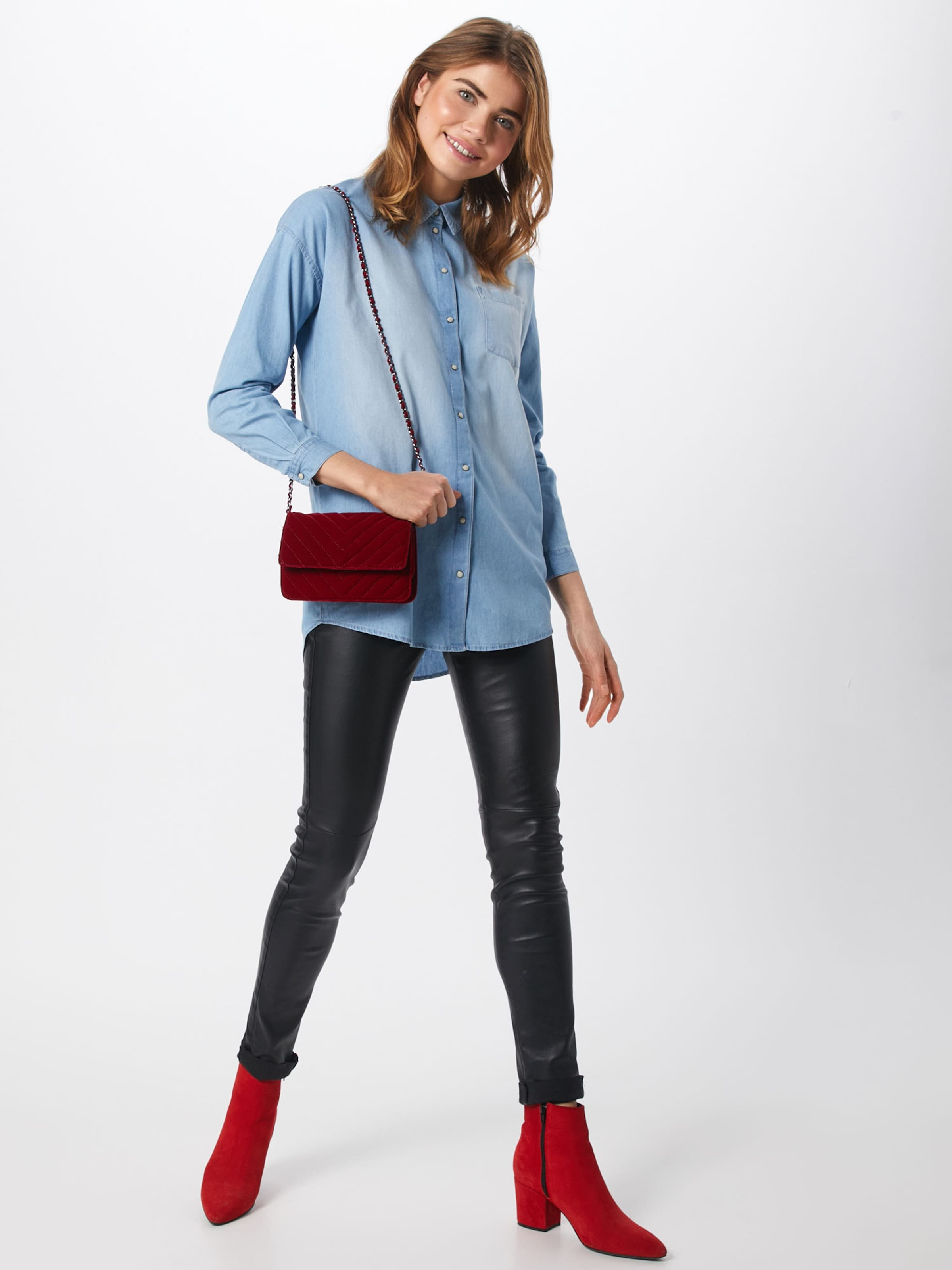 'jdyib Shirt' Denim De L En Jacqueline s Bleu Yong Chemisier nyvm8OPN0w