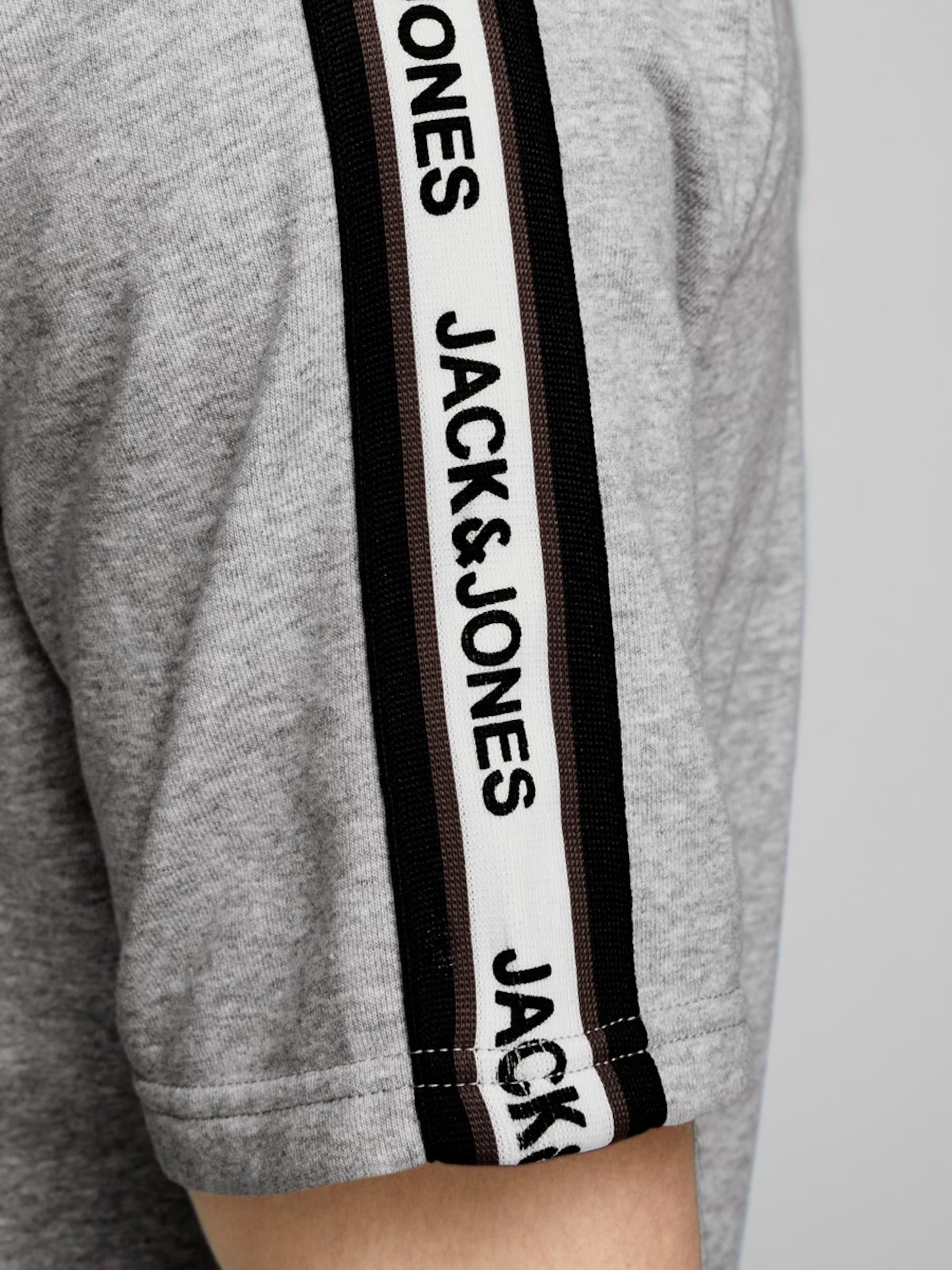 Jackamp; Jones En shirt OrangeNoir Blanc Sweat D9IWYHE2
