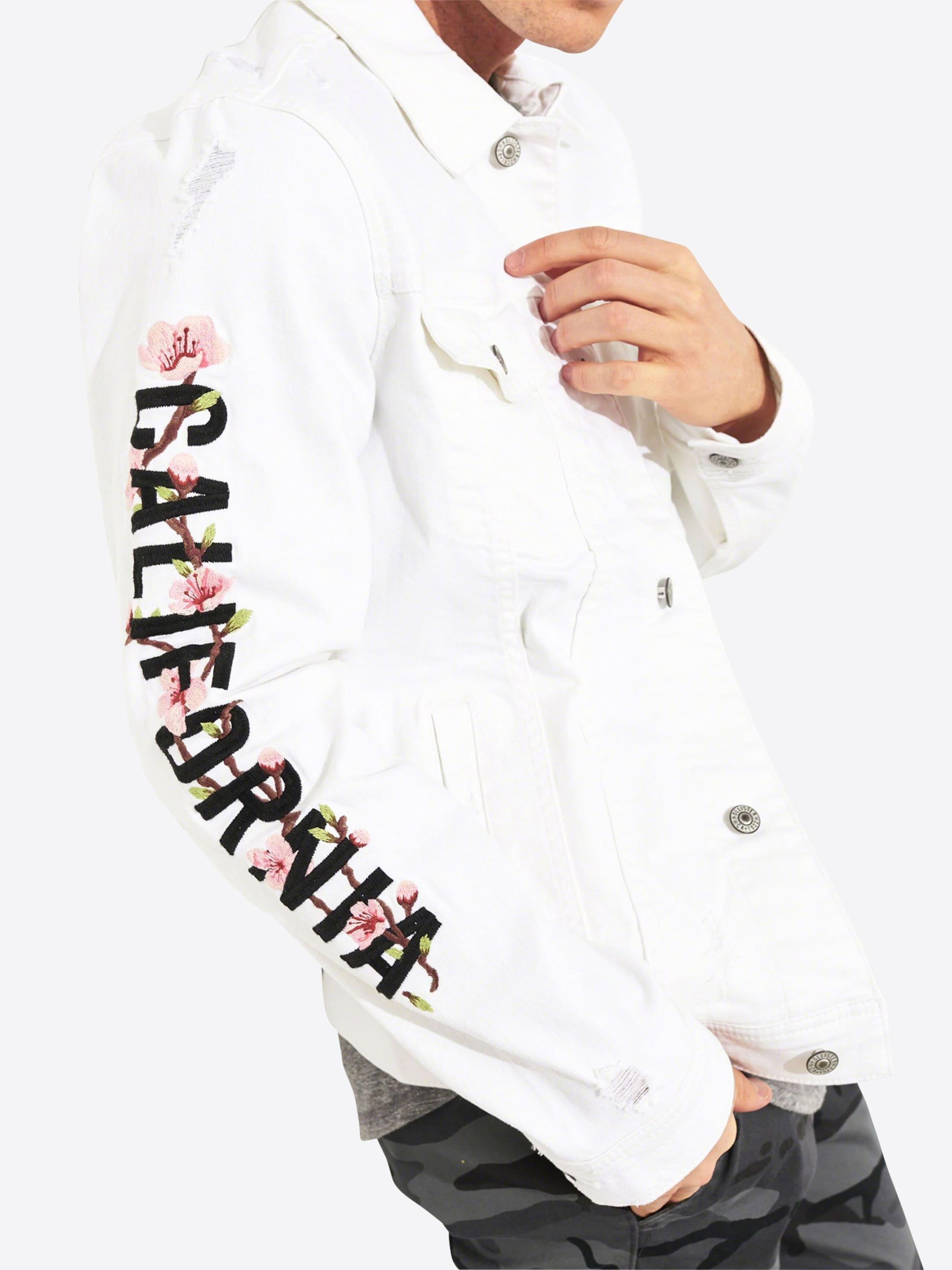 Blanc Veste En Denim saison 'embroidered Fashion Hollister Mi Trucker' 4R5AjL