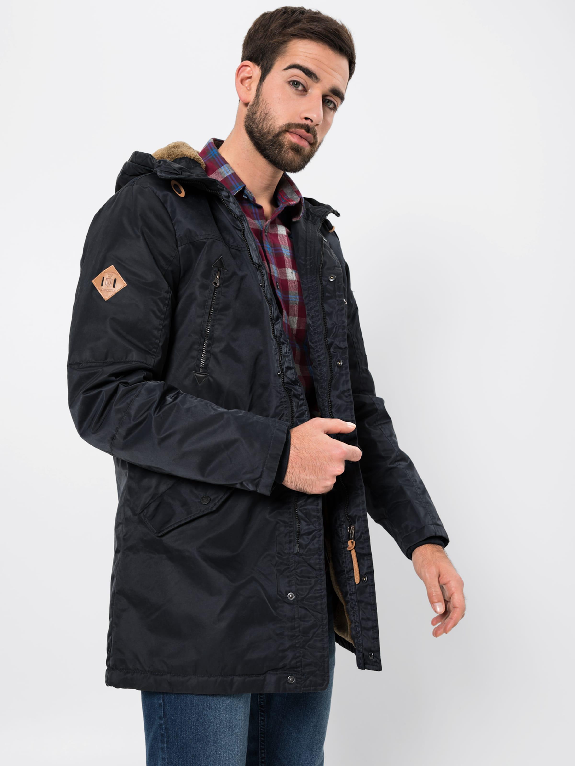 Jeans En Foncé Bleu Indicode 'woodman' D'hiver Veste OZiPXkuT